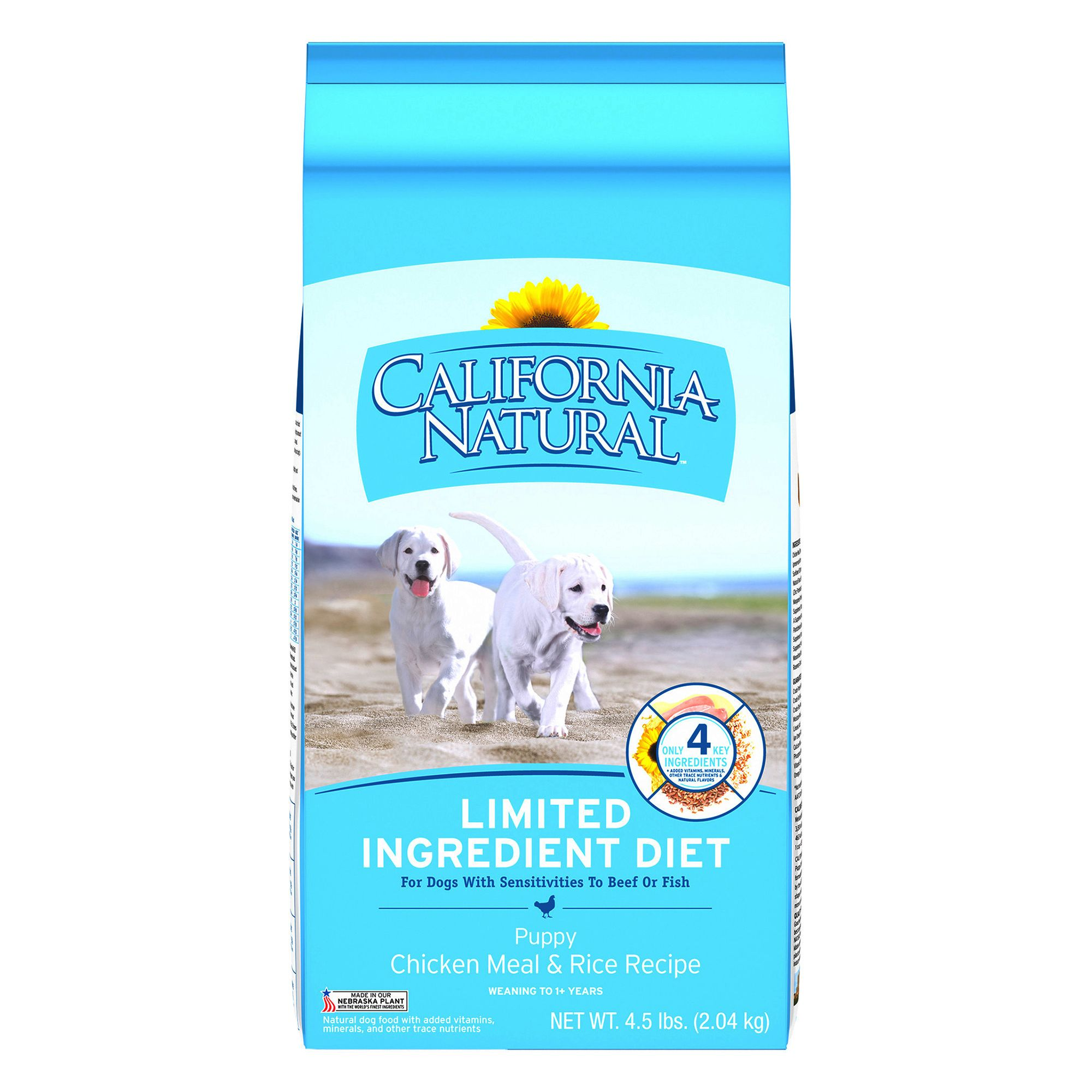 California Natural Limited Ingredient Diet Puppy Food Natural Chicken Meal And Rice Size 4.5 Lb
