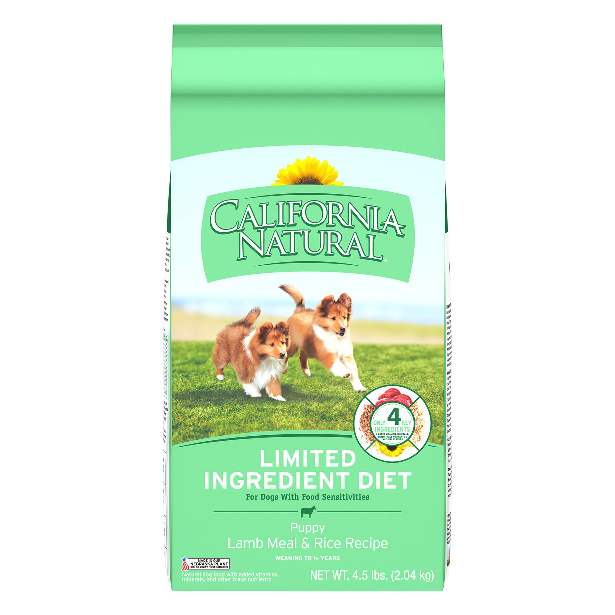 California Natural Limited Ingredient Diet Puppy Food Natural Lamb Meal And Rice Size 4.5 Lb