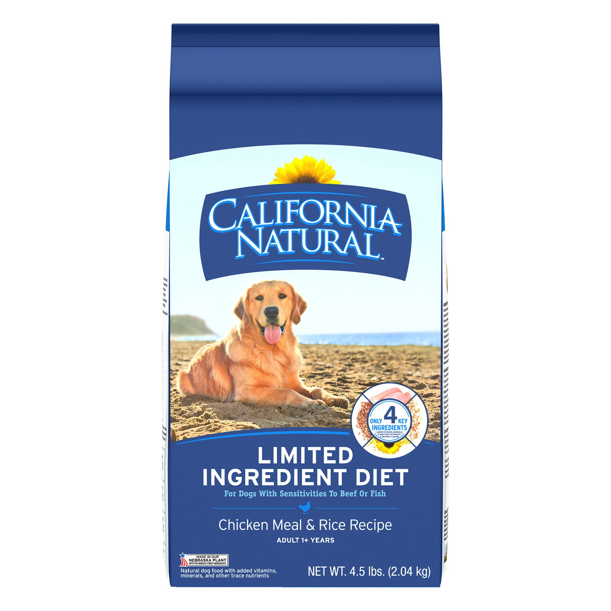 California Natural Limited Ingredient Diet Dog Food Natural Chicken Meal And Rice Size 4.5 Lb