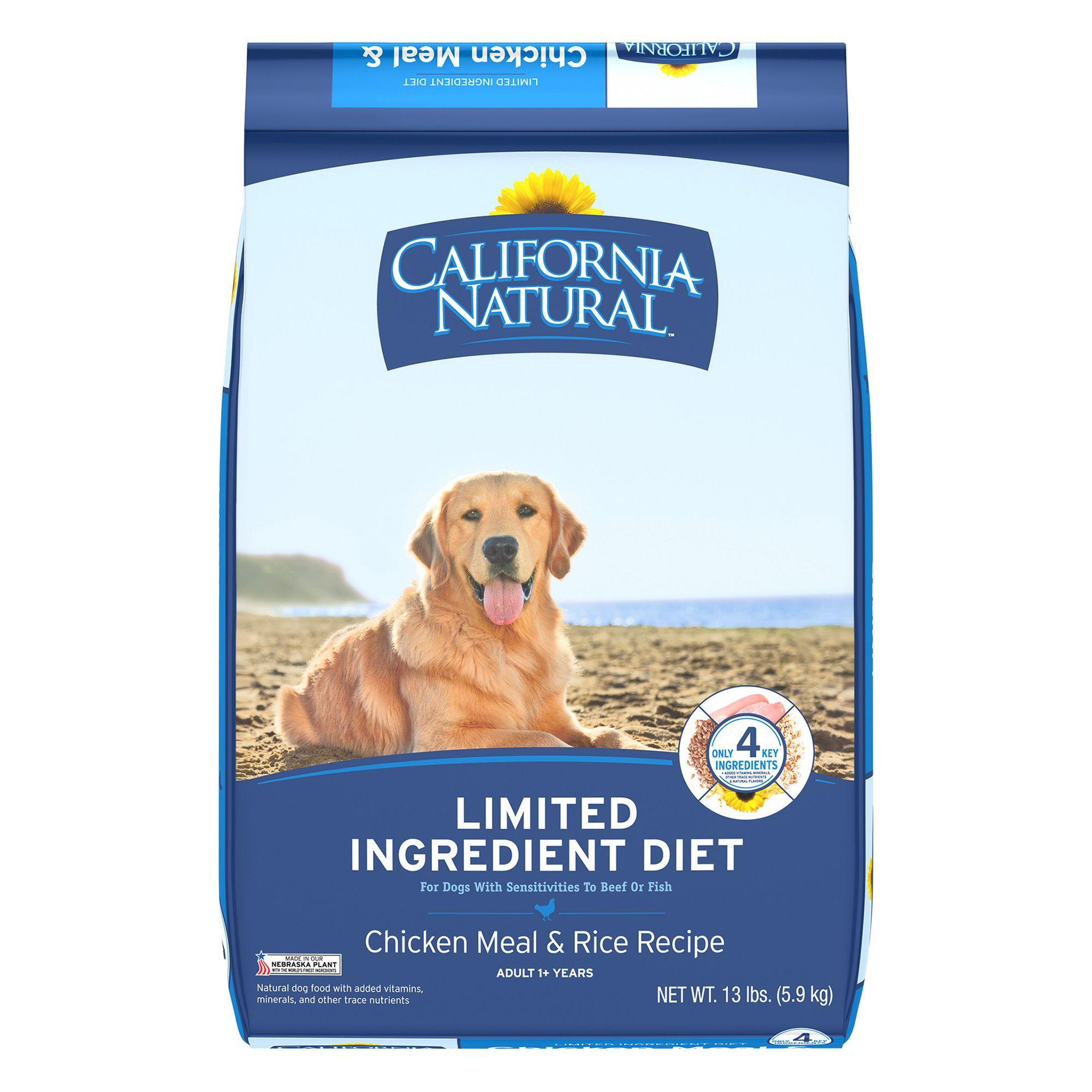 California Natural Limited Ingredient Diet Dog Food Natural Chicken Meal And Rice Size 13 Lb