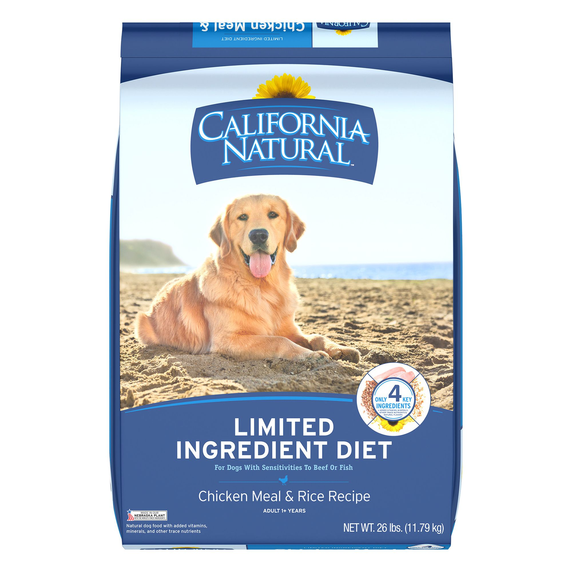 California Natural Limited Ingredient Diet Dog Food Natural Chicken Meal And Rice Size 26 Lb