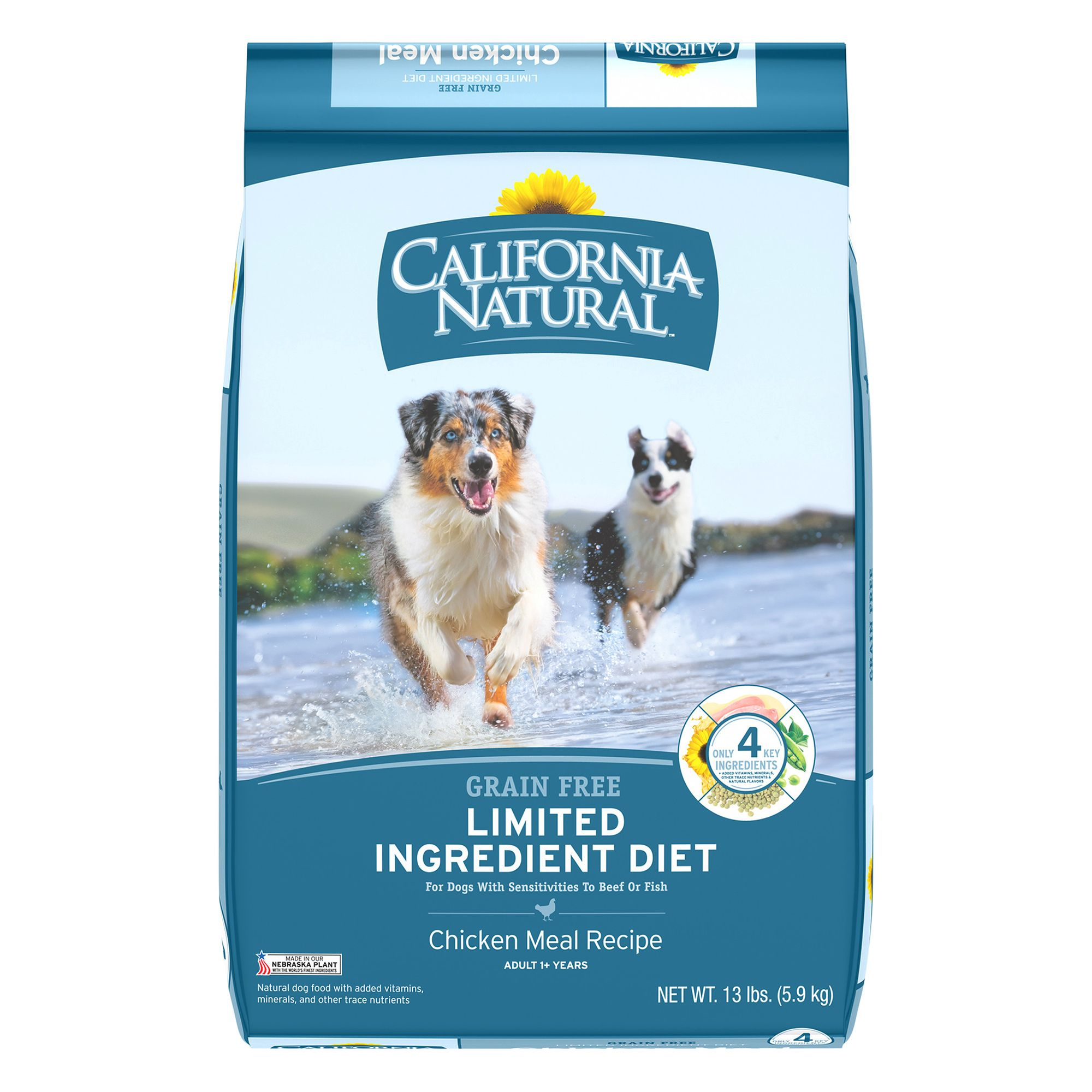 California Natural Limited Ingredient Diet Dog Food Natural Grain Free Chicken Meal Size 13 Lb