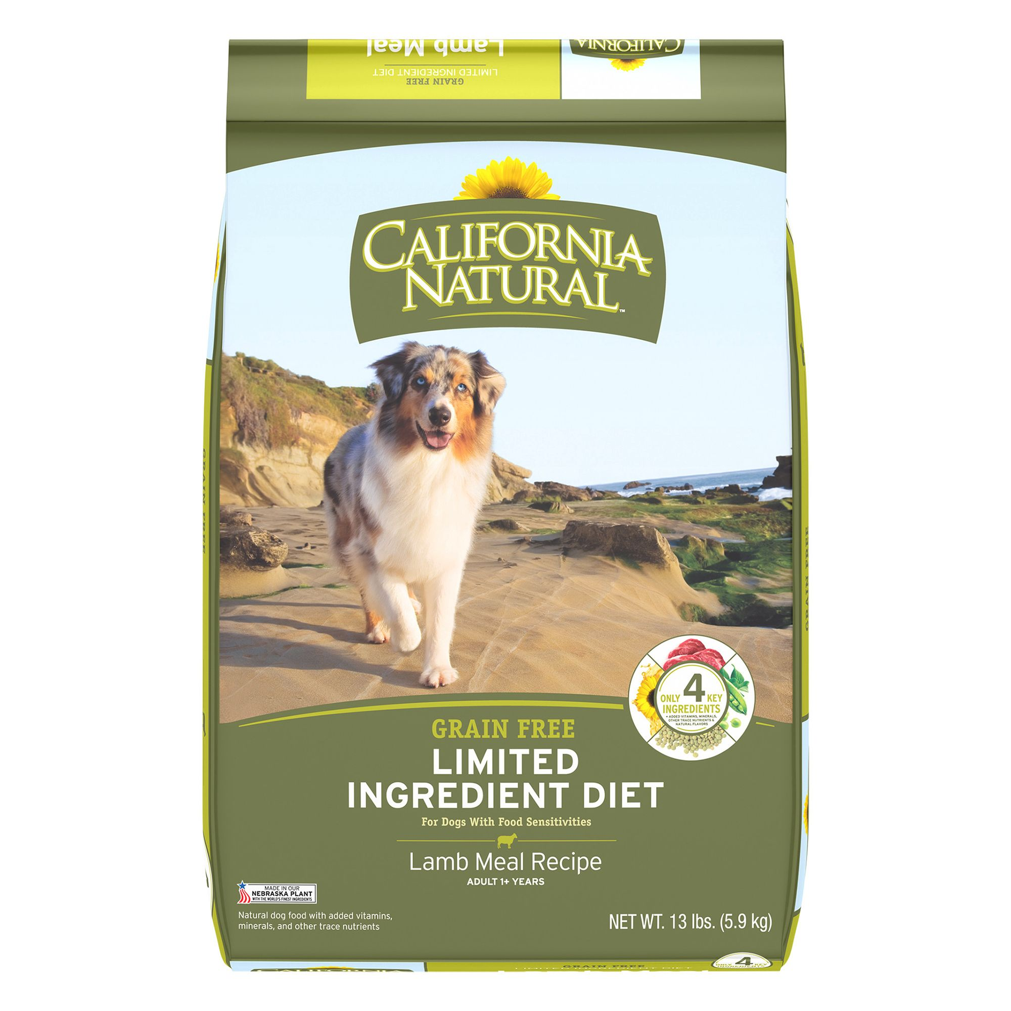 California Natural Limited Ingredient Diet Dog Food Natural Grain Free Lamb Meal Size 13 Lb