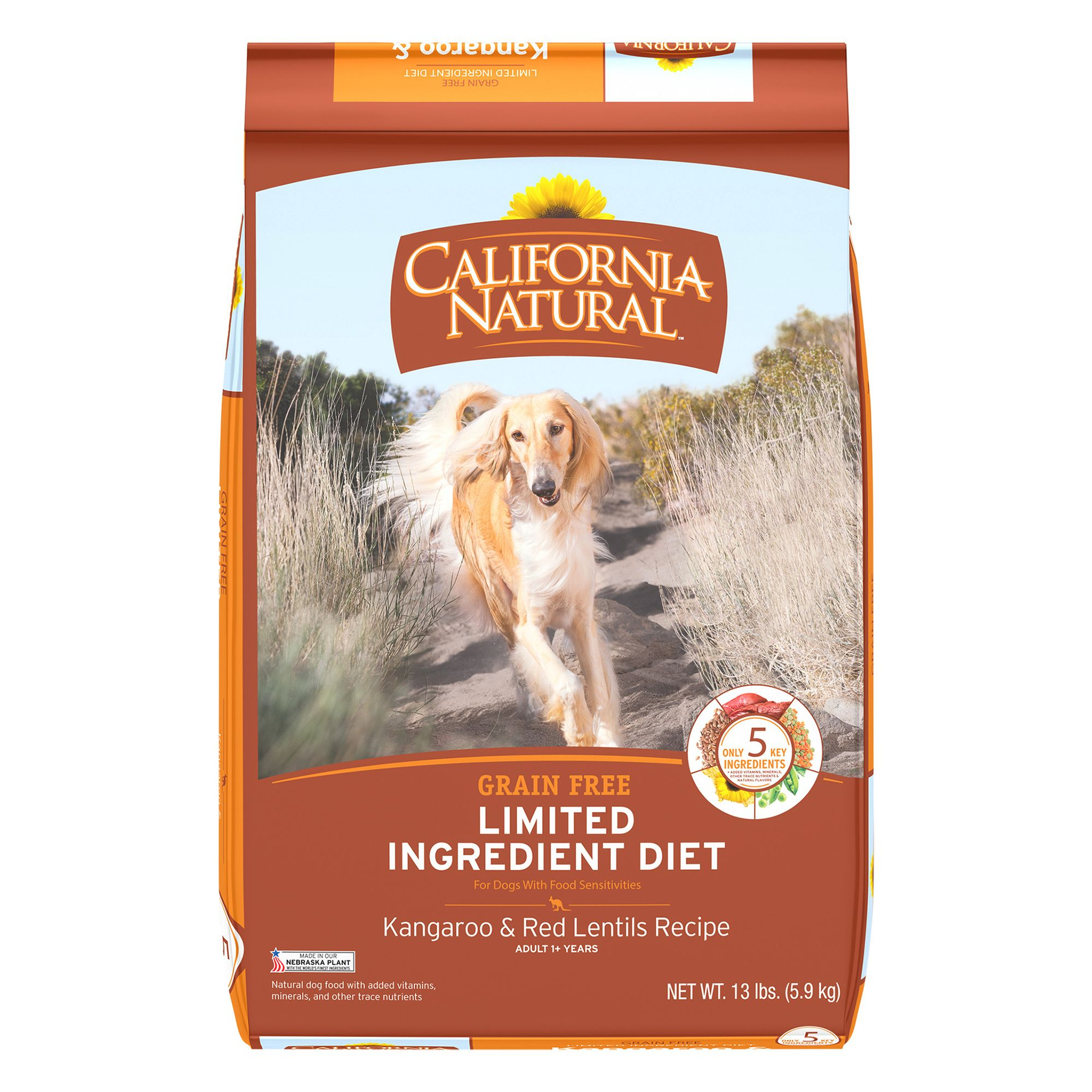 California Natural Limited Ingredient Diet Dog Food Natural Grain Free Kangaroo And Red Lentils Size 13 Lb