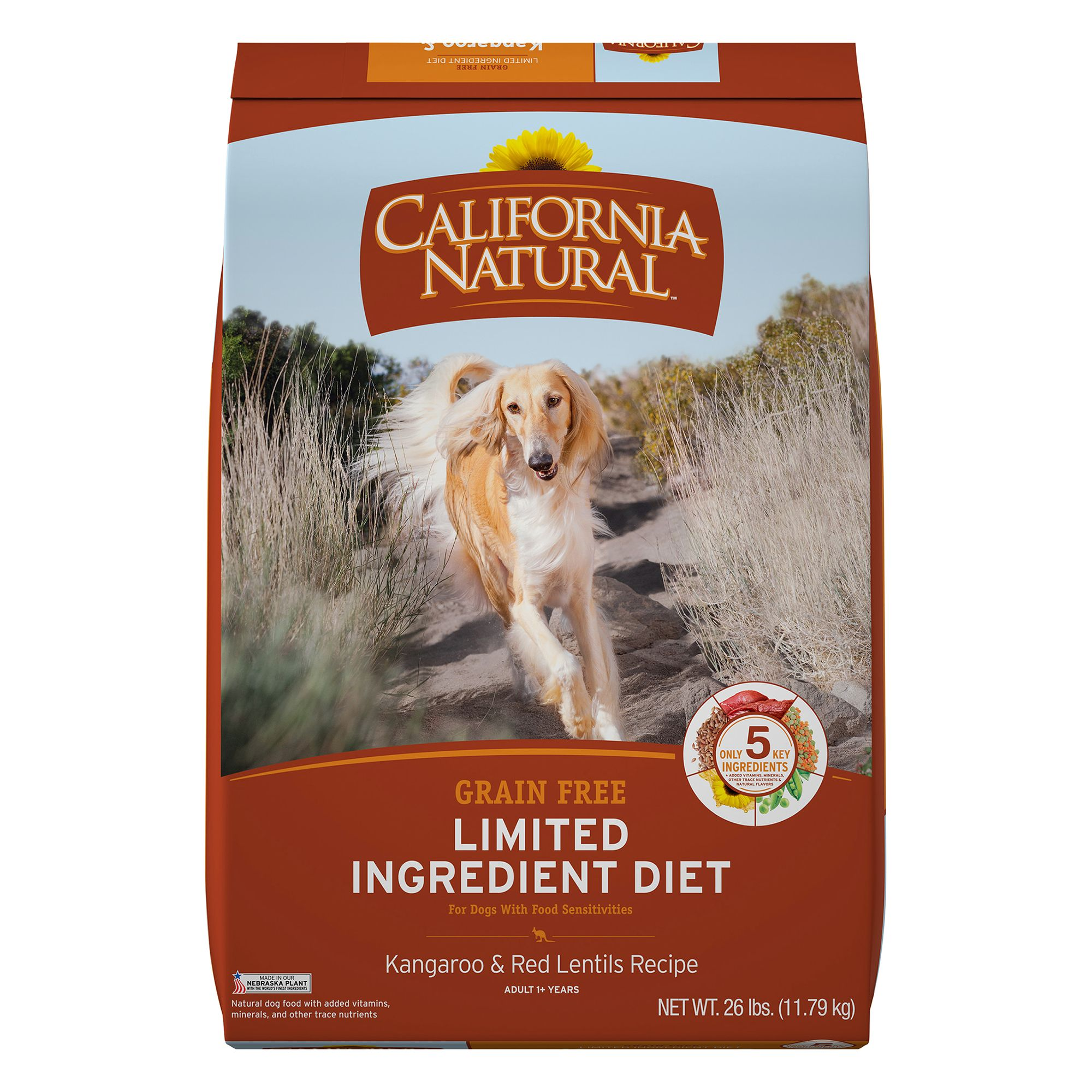 California Natural Limited Ingredient Diet Dog Food Natural Grain Free Kangaroo And Red Lentils Size 26 Lb
