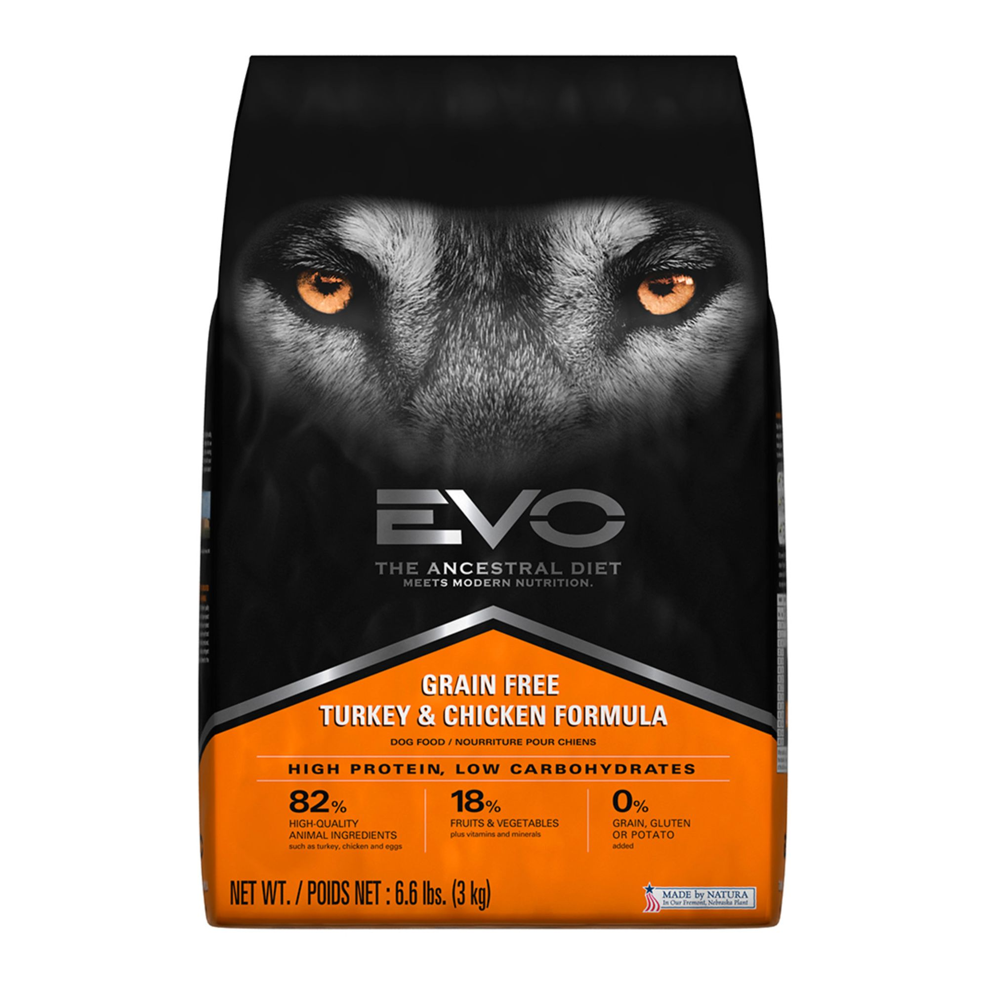 EVO Adult Dog Food - Grain Free, Gluten Free, Turkey and Chicken size: 6.6 Lb 5269069