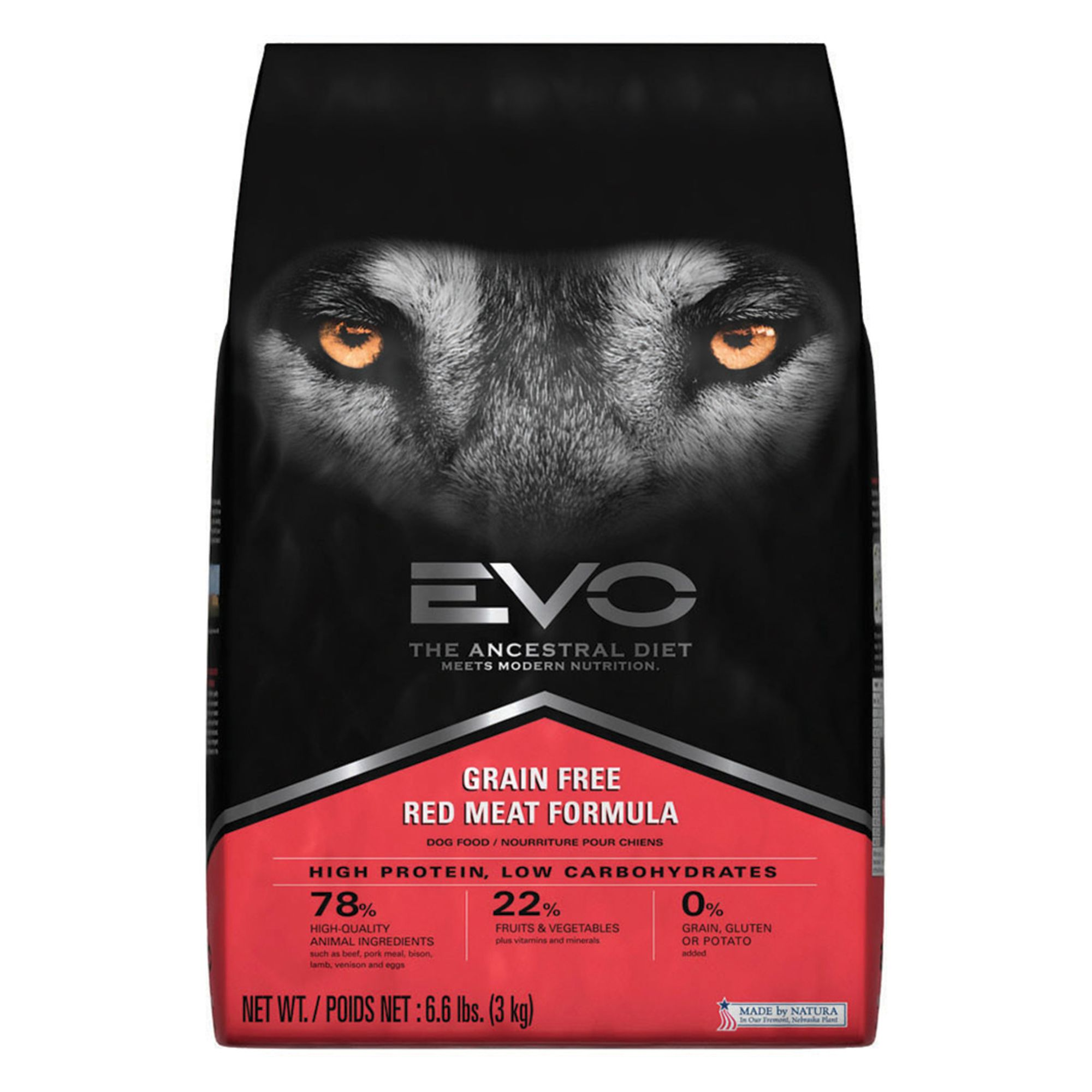 EVO Adult Dog Food - Grain Free, Gluten Free, Red Meat size: 6.6 Lb 5269116