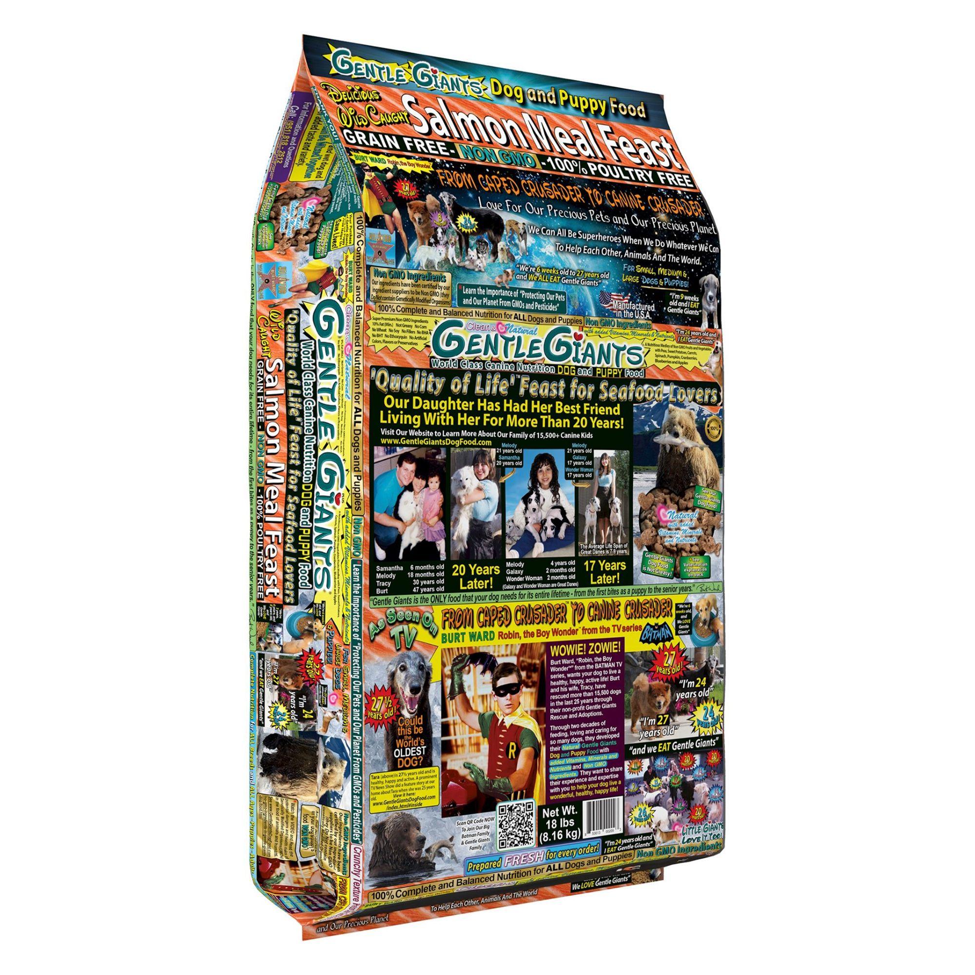 Gentle Giants Dog Food Natural Salmon Size 18 Lb