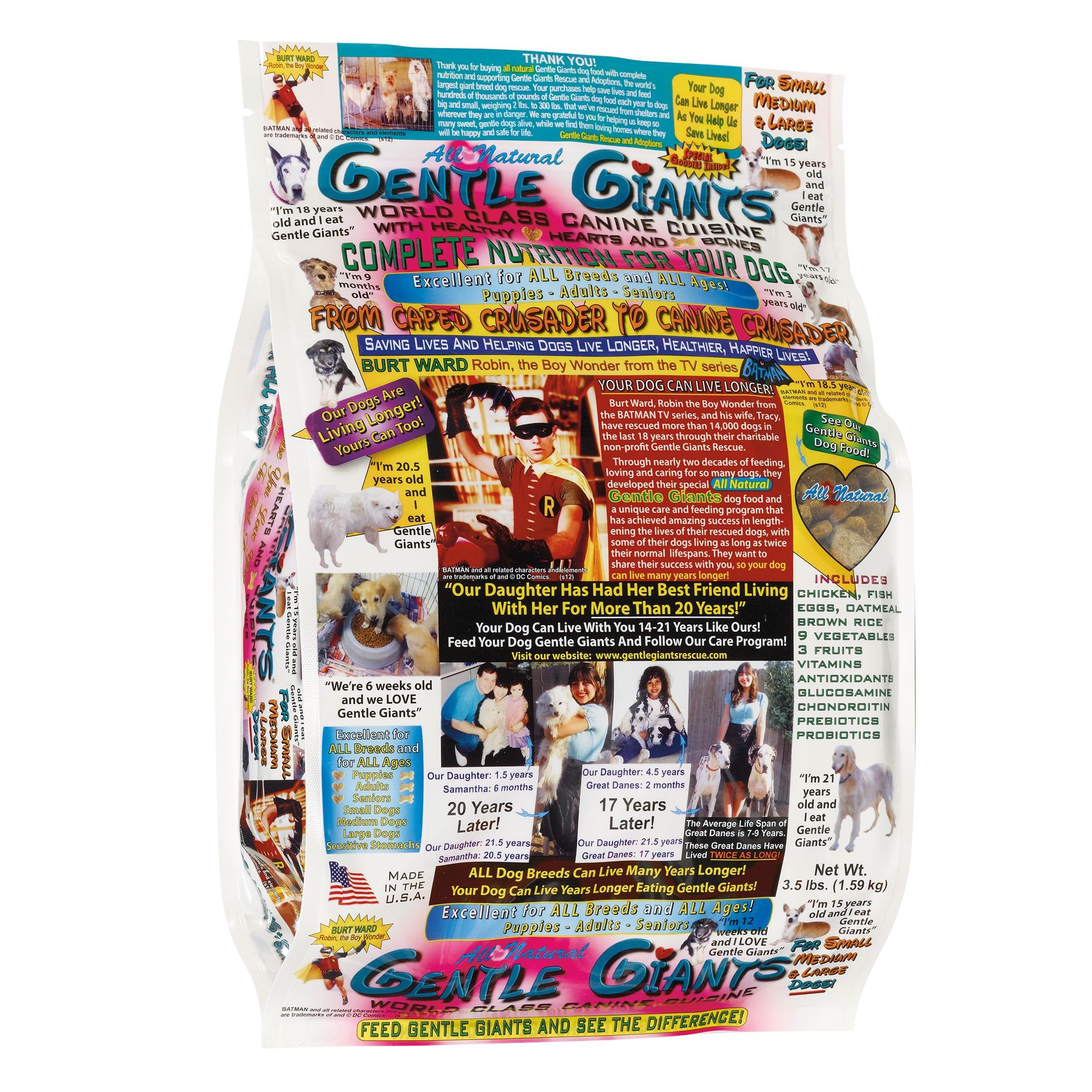 Gentle Giants Dog Food Natural Chicken Size 3.5 Lb