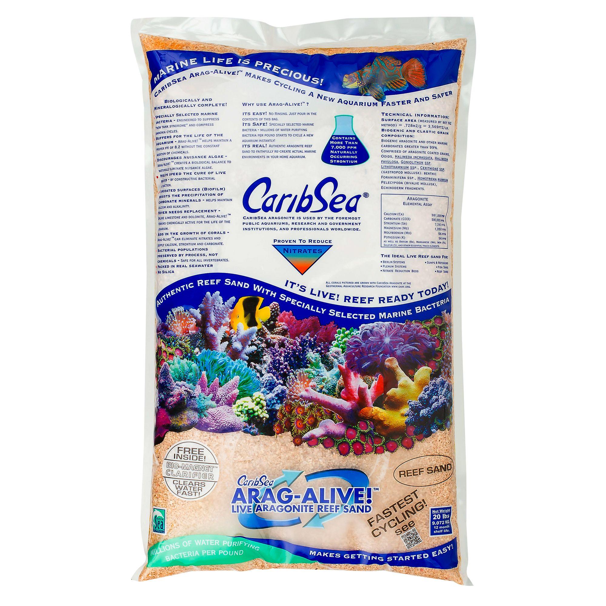 Caribsea Aragalive Reef Sand Size 20 Lb