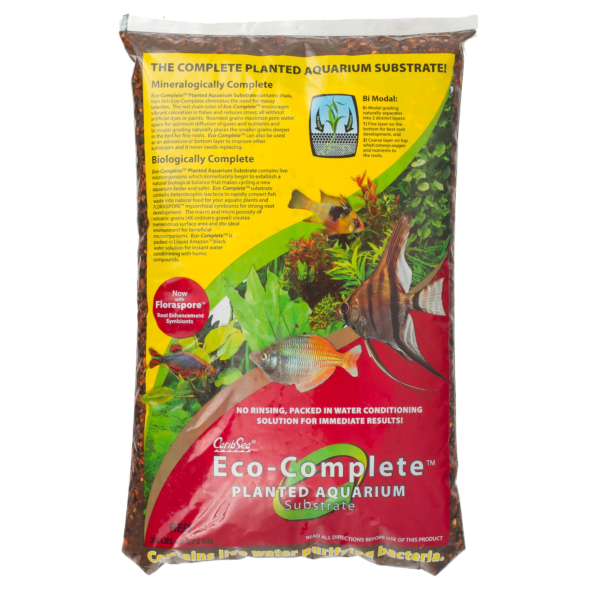 Caribsea Eco Complete Planted Aquarium Substrate Size 20 Lb