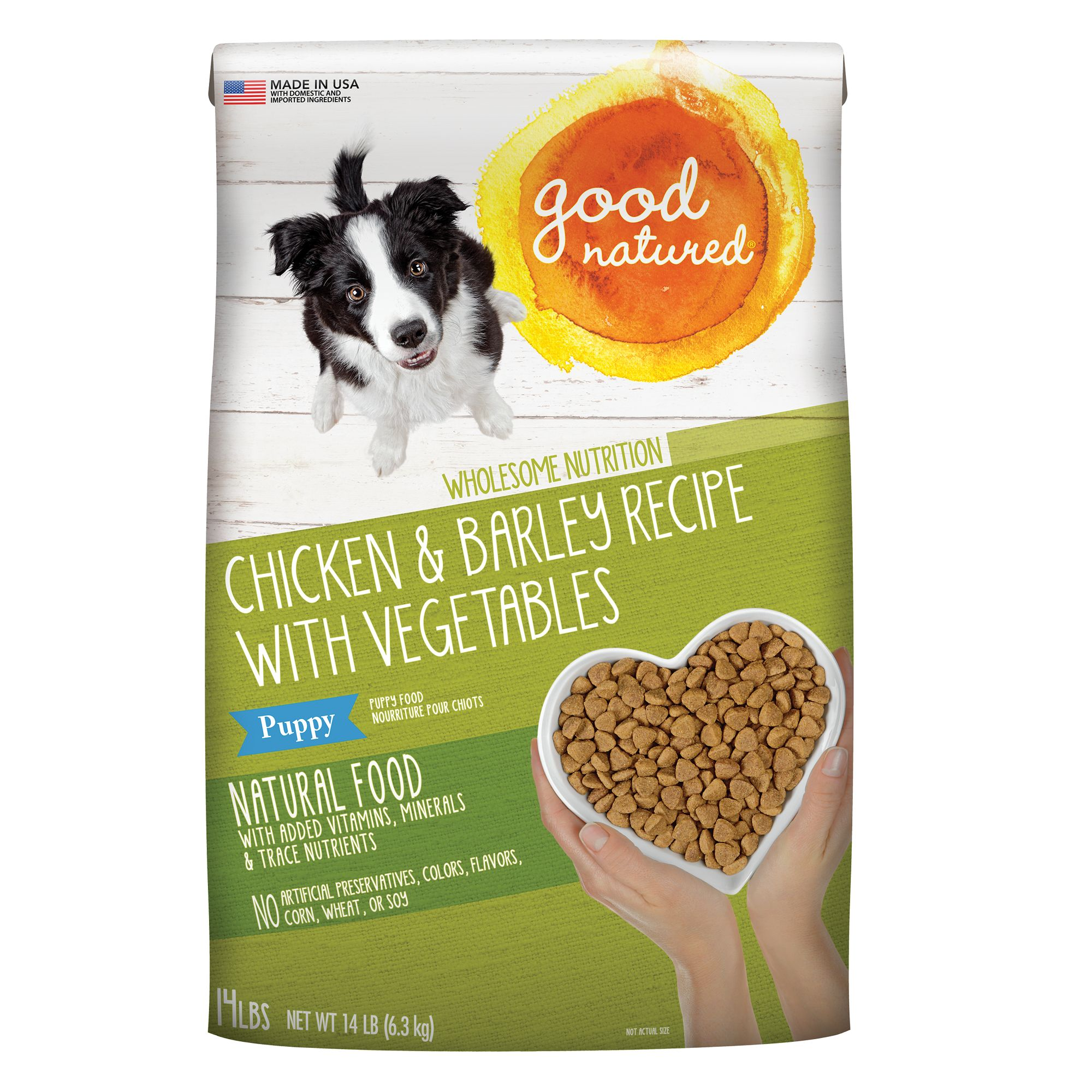 Good Natured, Puppy Food - Natural, Chicken and Barley size: 14 Lb, Kibble 5269723