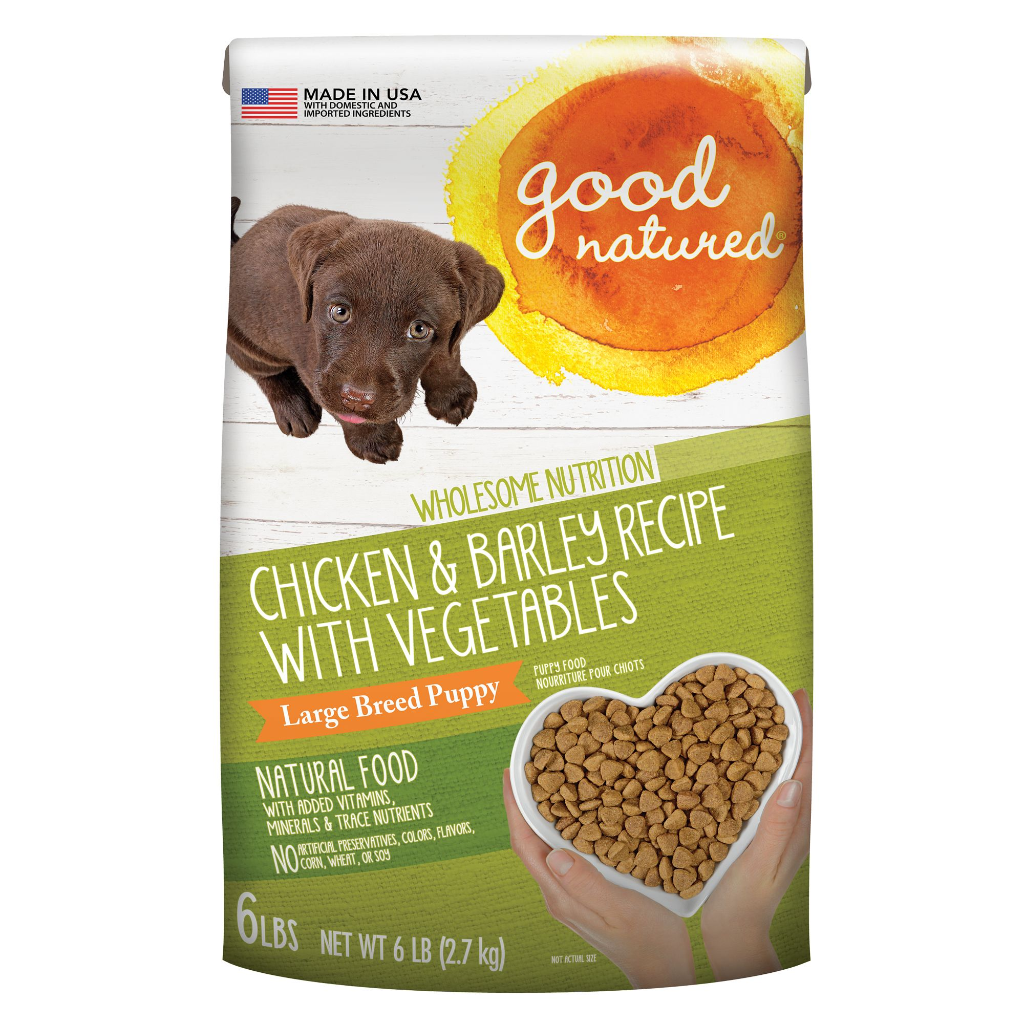 Good Natured, Large Breed Puppy Food - Natural, Chicken and Barley size: 6 Lb, Kibble 5269724