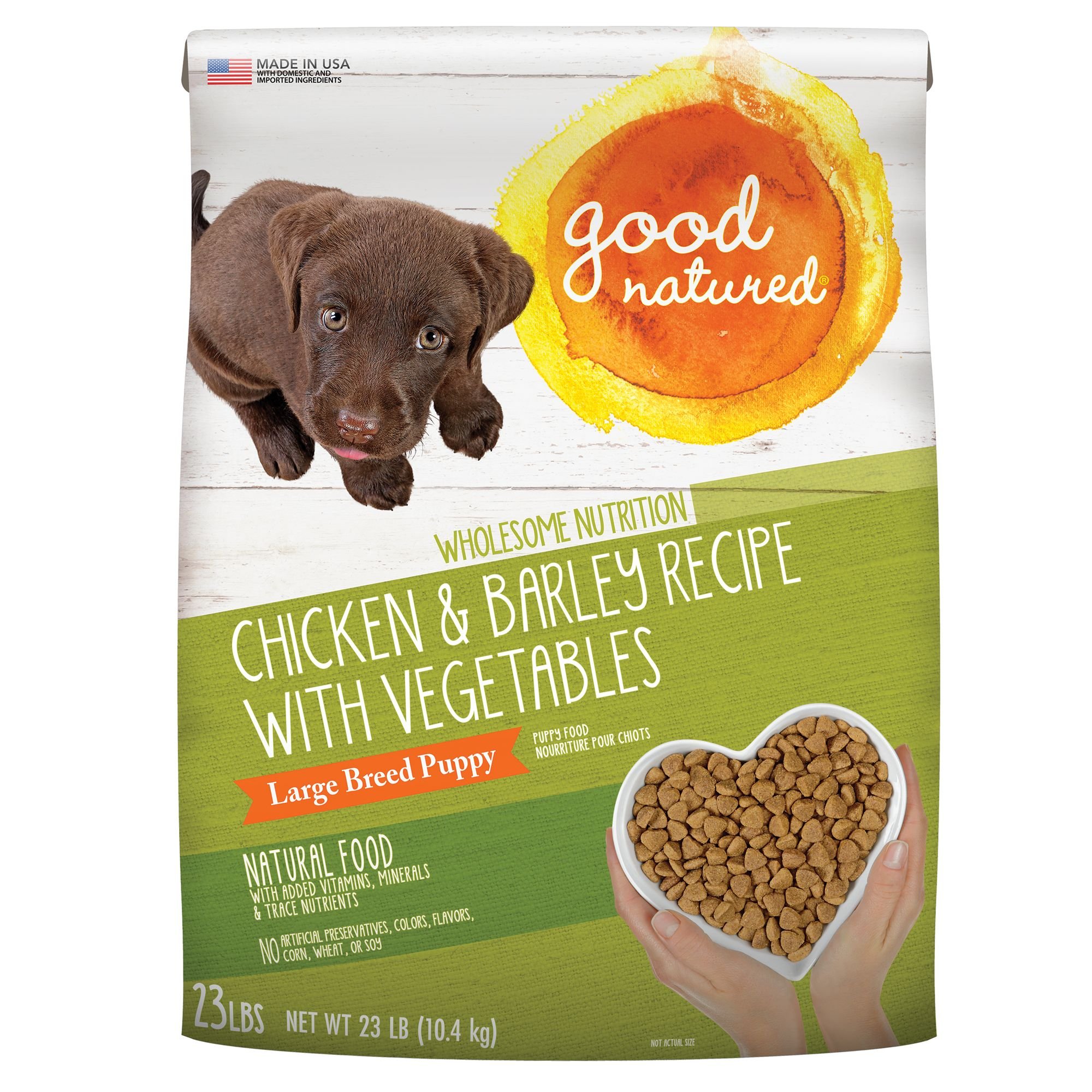 Good Natured, Large Breed Puppy Food - Natural, Chicken and Barley size: 23 Lb 5269745