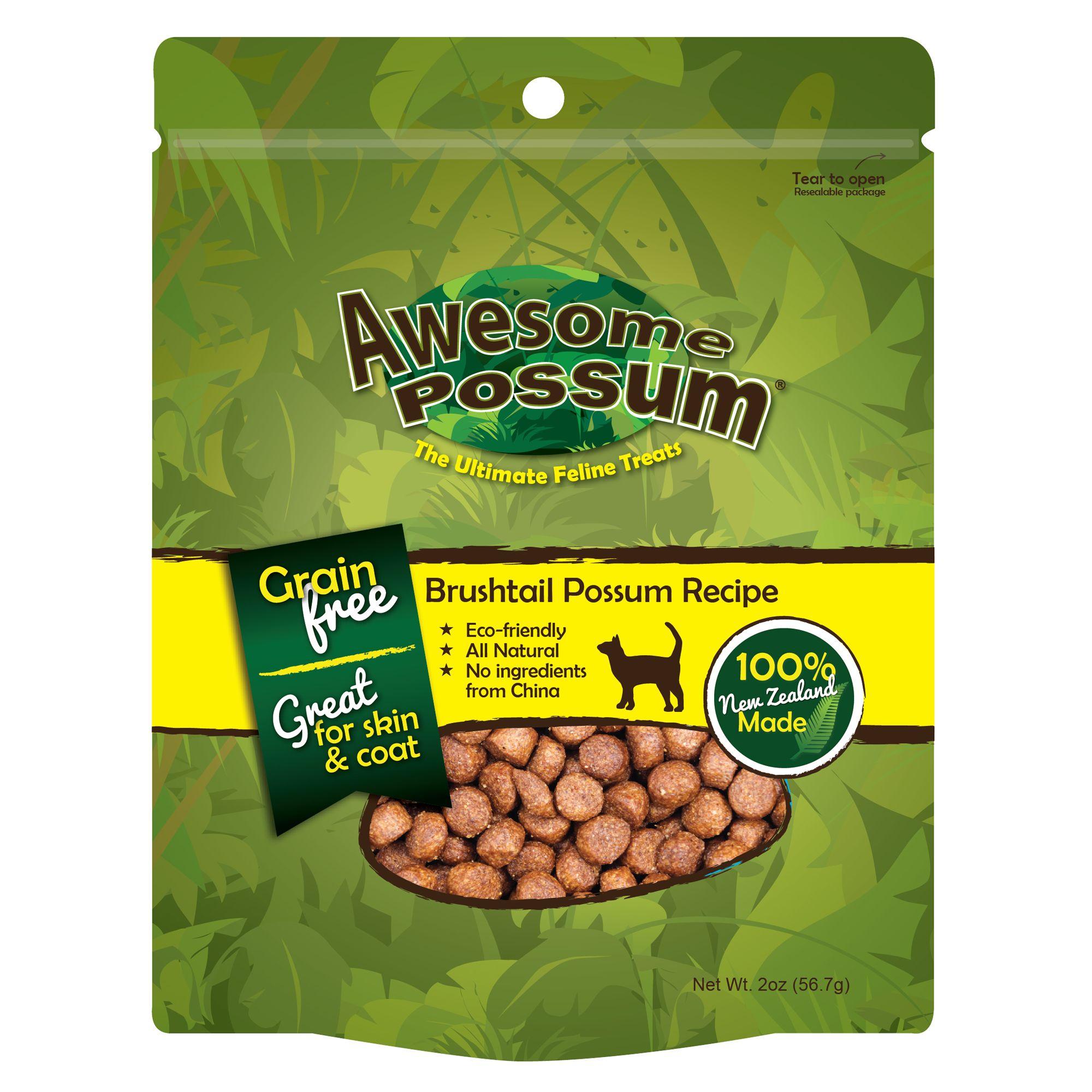 Awesome Possum Cat Treat Natural Grain Free Brushtail Possum Recipe Size 2 Oz