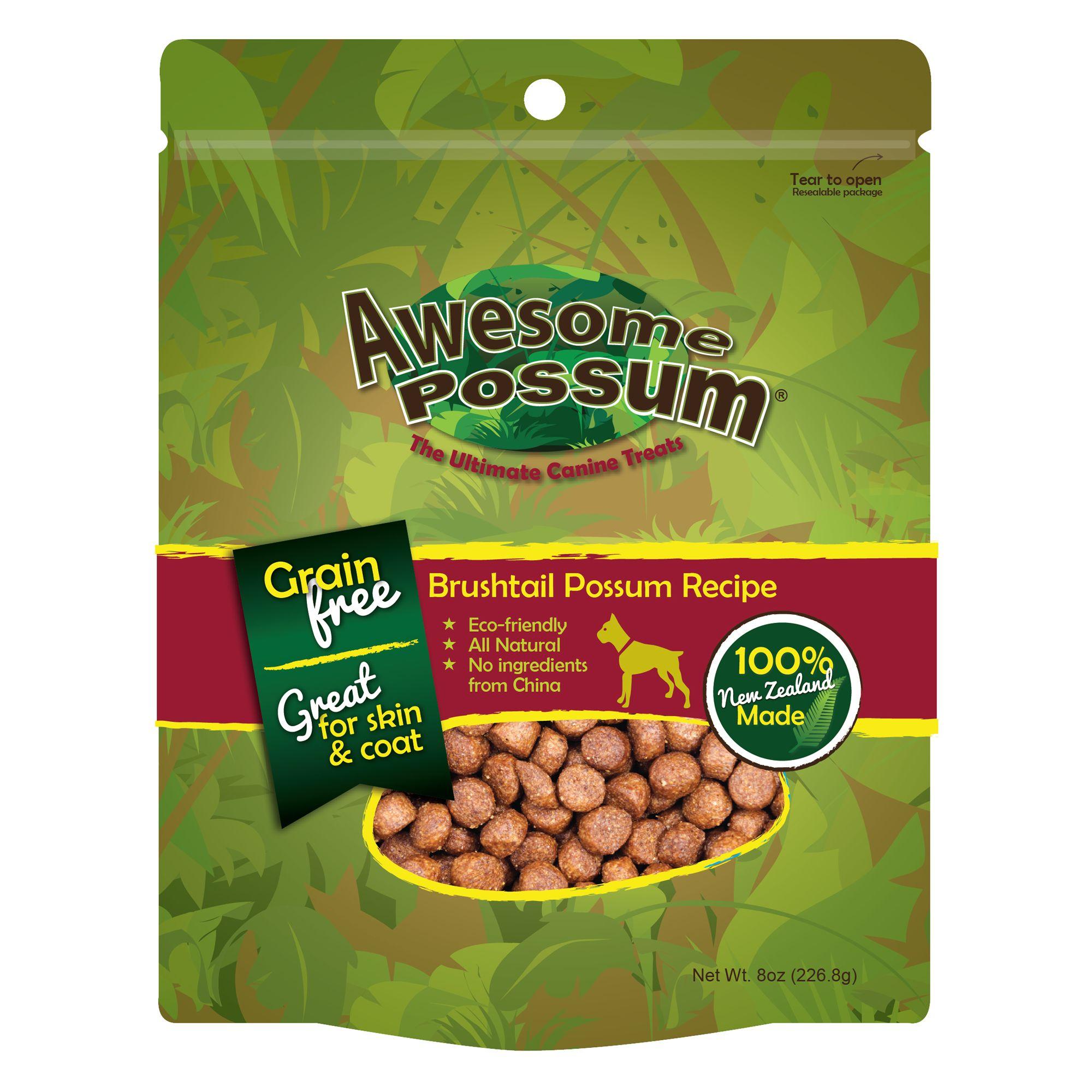 Awesome Possum Dog Treat Natural Grain Free Brushtail Possum Recipe Size 8 Oz