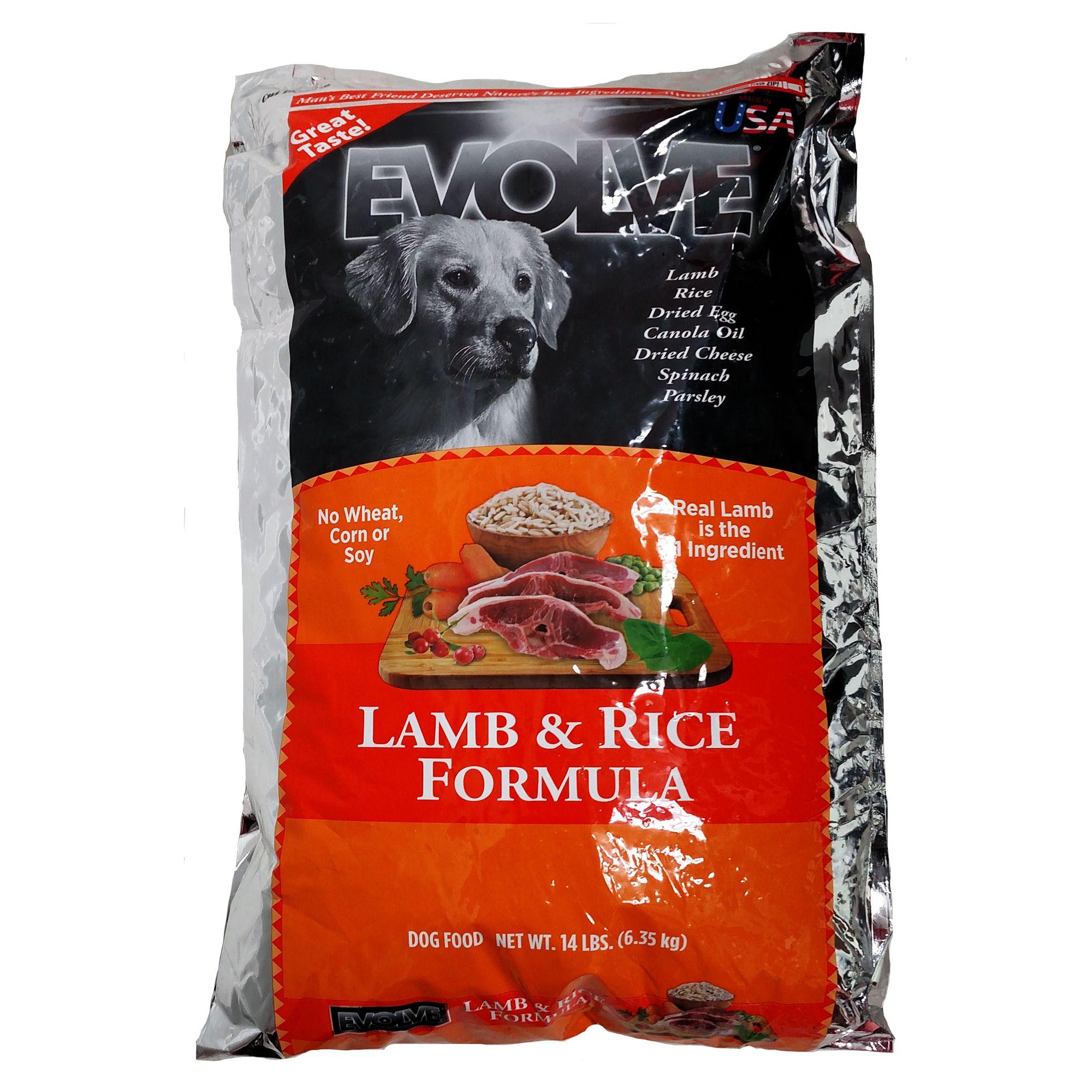 Evolve Adult Dog Food Lamb And Rice Size 28 Lb