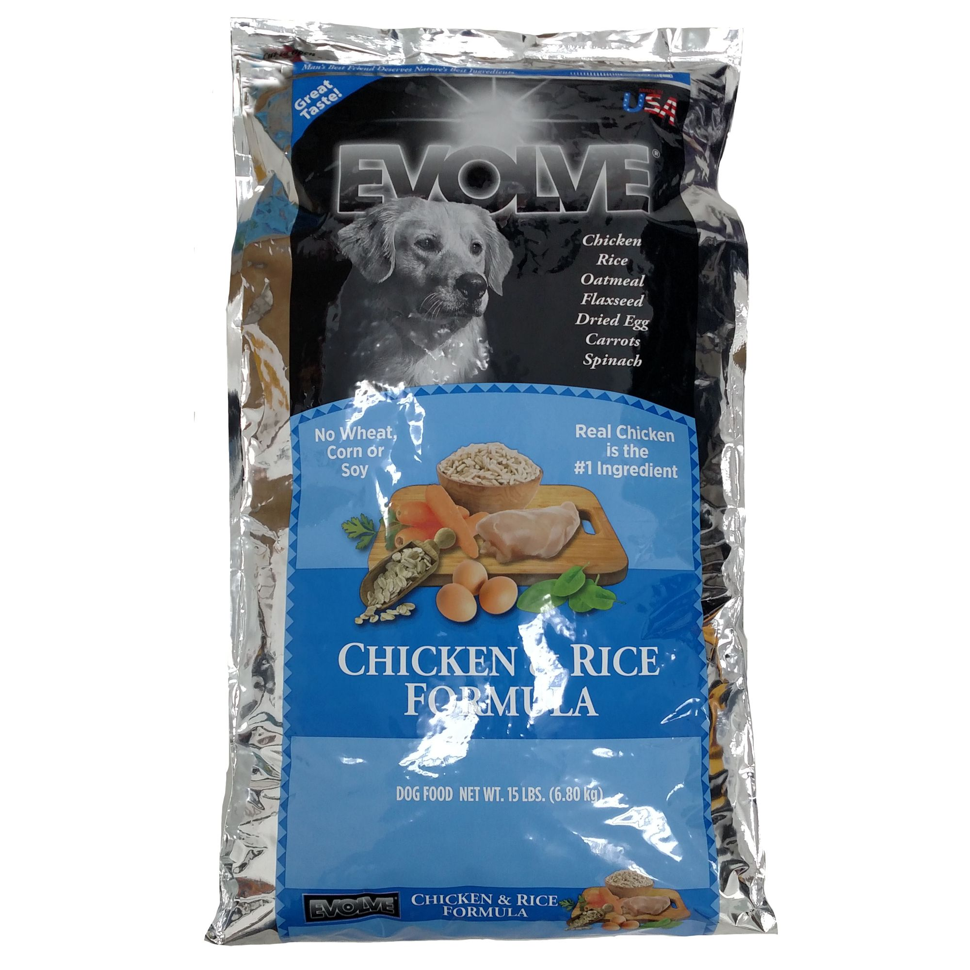 Evolve Adult Dog Food Chicken And Rice Size 3 Lb