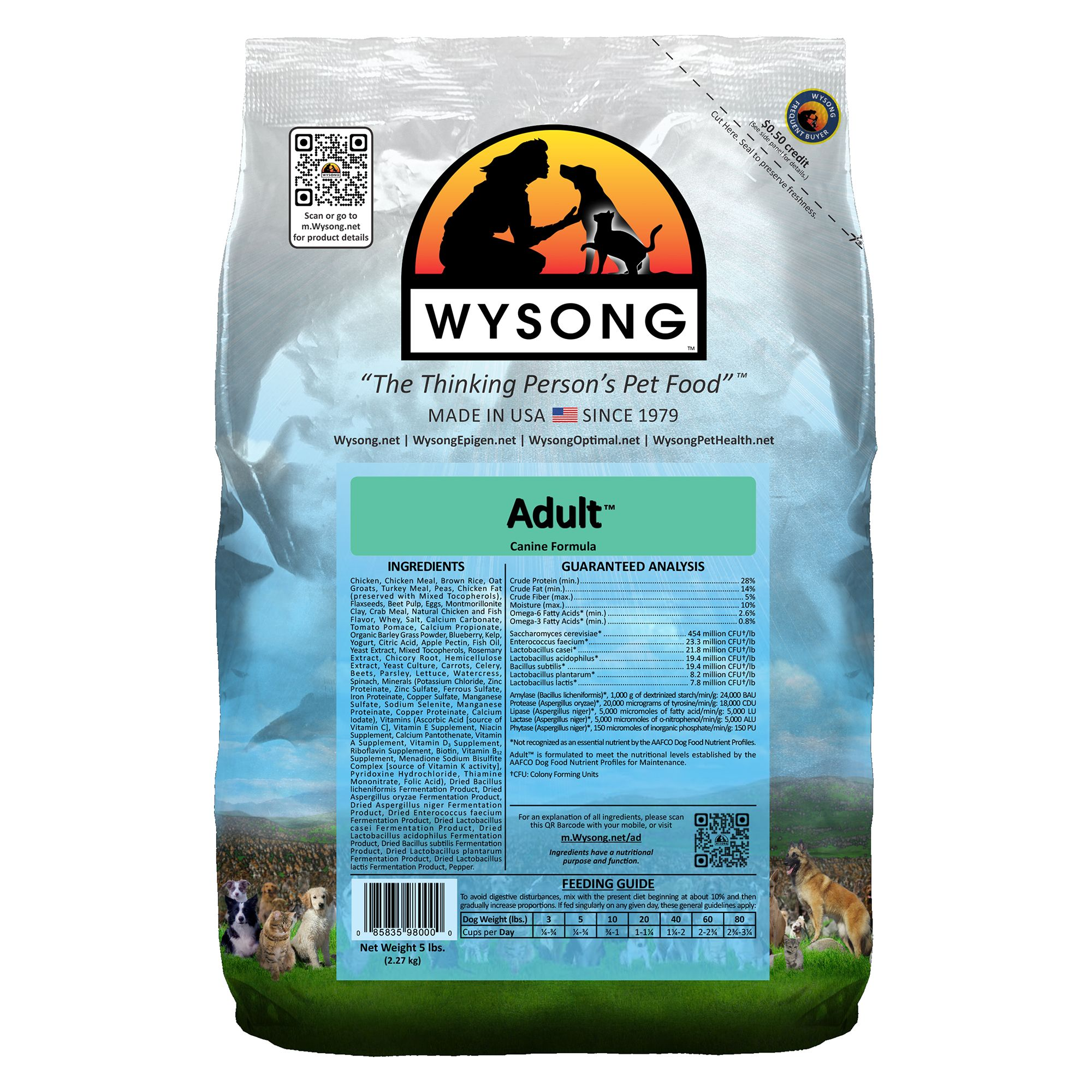 Wysong Adult Dog Food Chicken Size 5 Lb