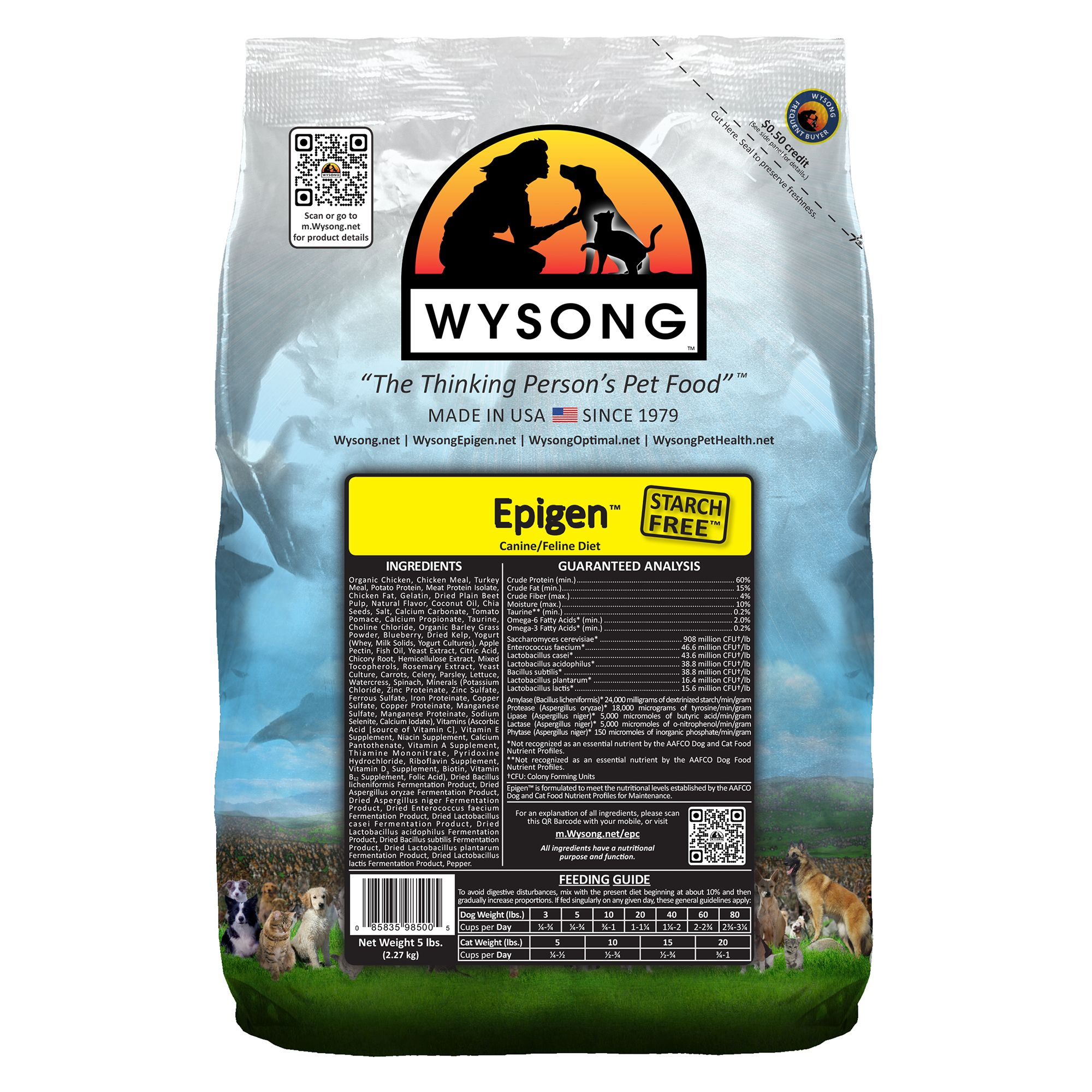 Wysong Epigen Dog And Cat Food Chicken Size 5 Lb
