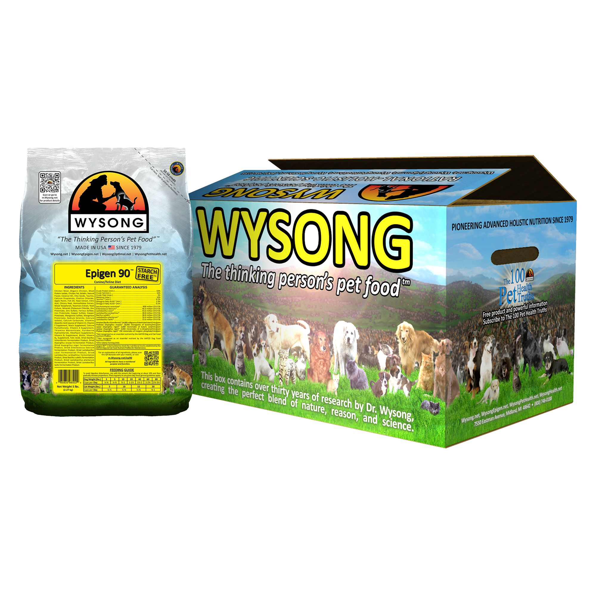 Wysong Epigen 90 Dog And Cat Food Chicken Size 20 Lb