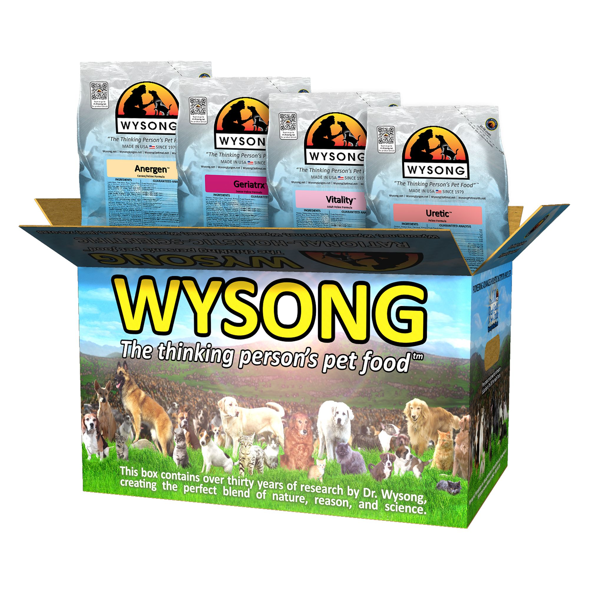 Wysong Variety Pack Cat Food - Anergen, Geriatrx, Vitality and Uretic size: 20 Lb, Rabbit, Kibble 5270520