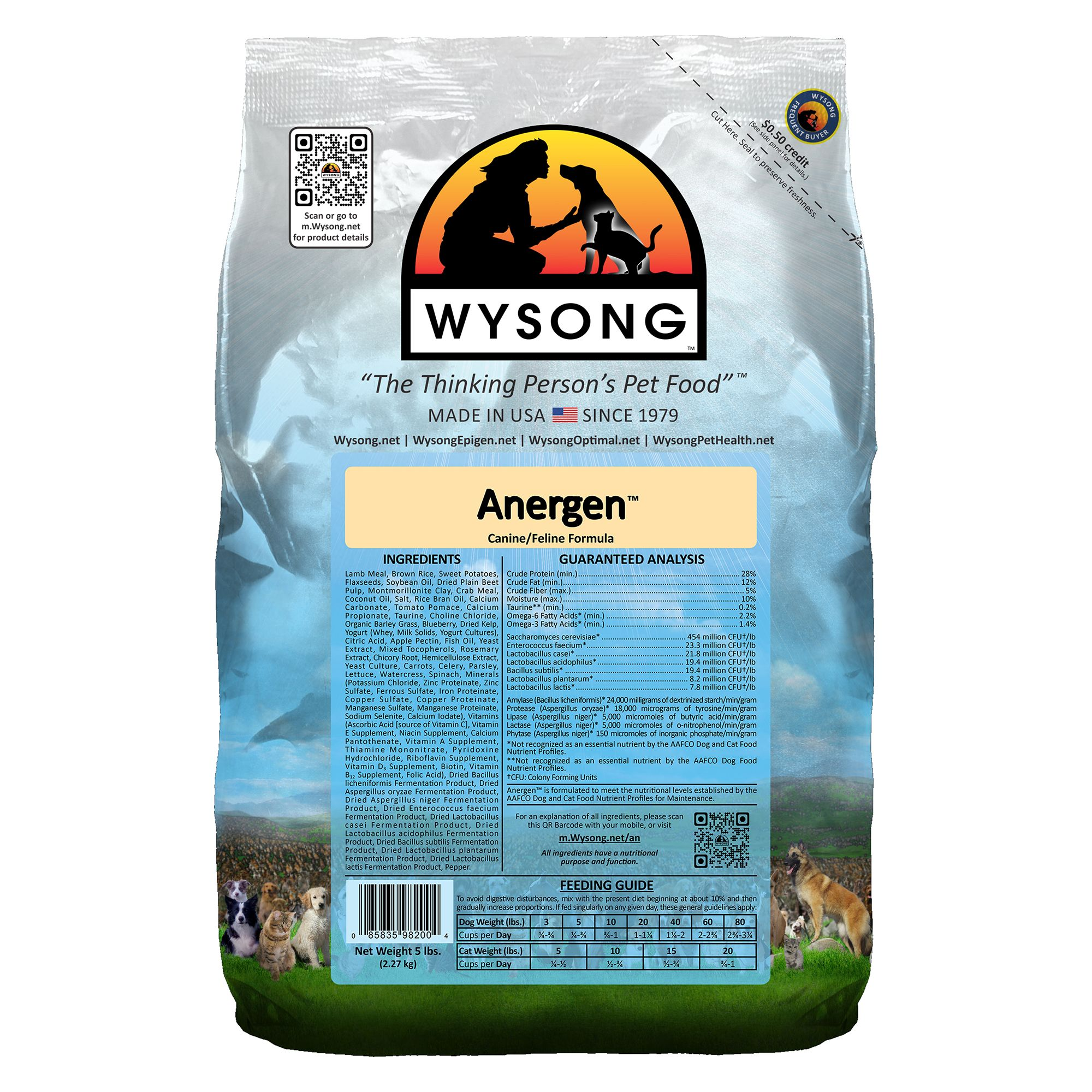 Wysong Anergen Dog And Cat Food Lamb Size 5 Lb