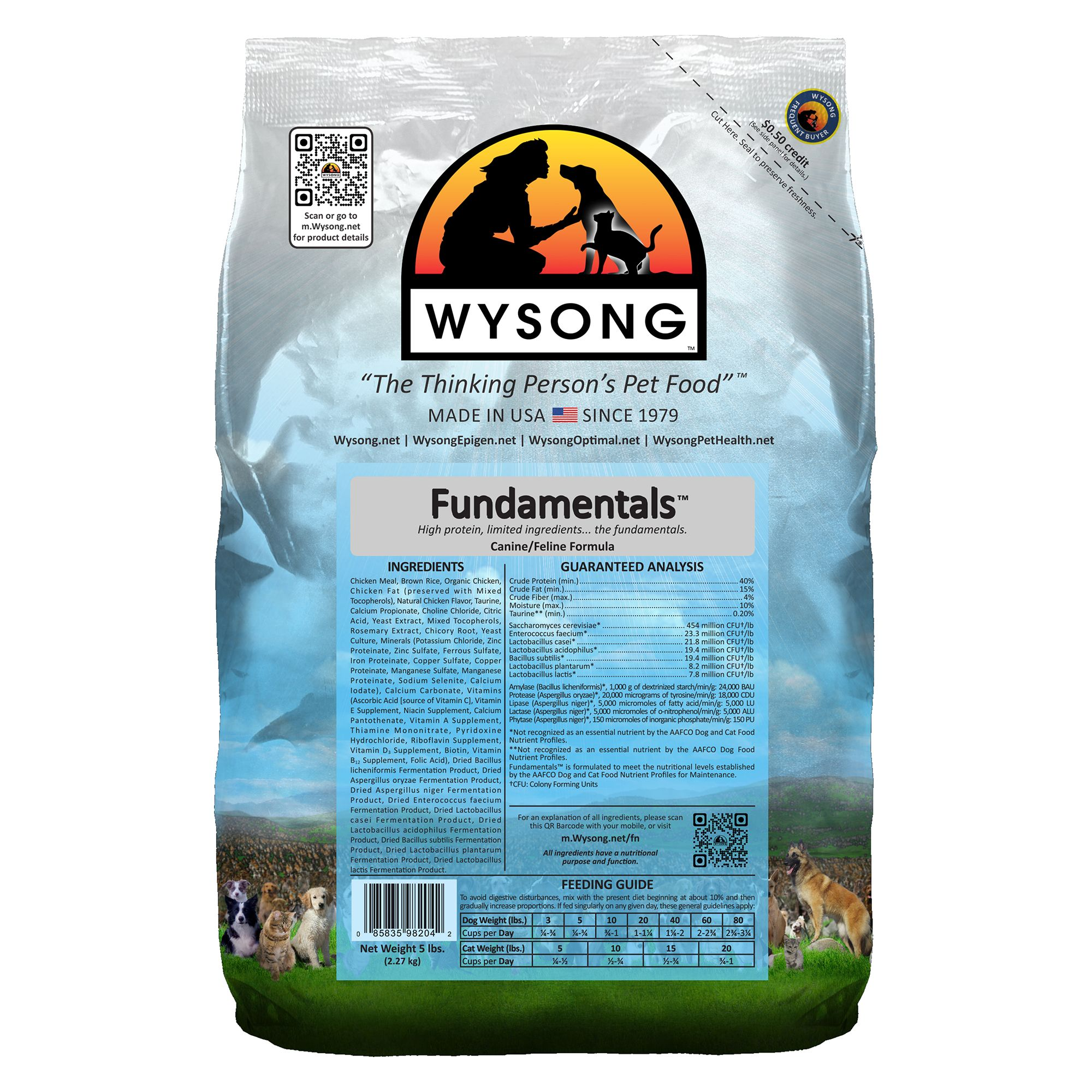 Wysong Fundamentals Dog And Cat Food Chicken Size 5 Lb