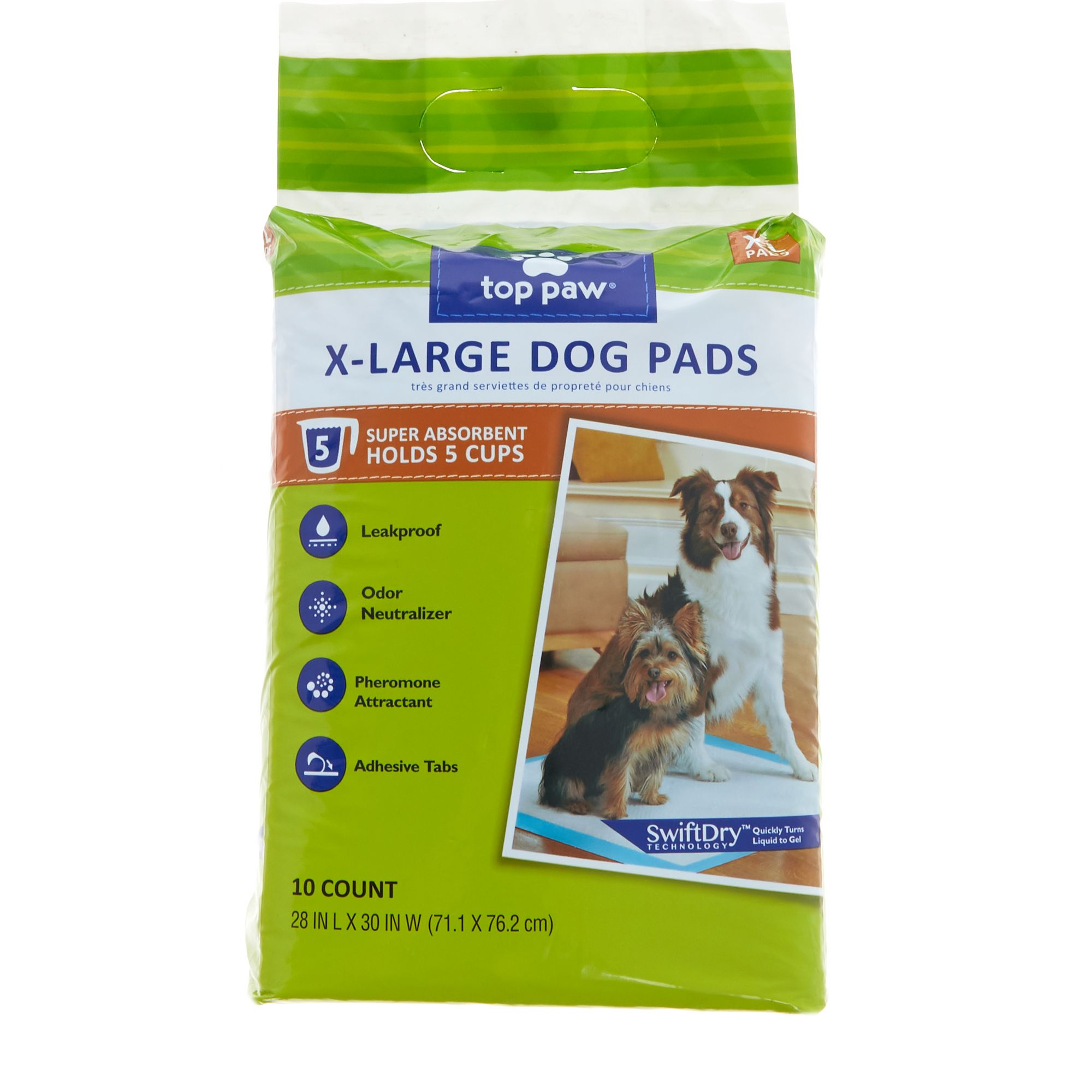 Top Paw X-Large Dog Pads size: 10 Count 5270587