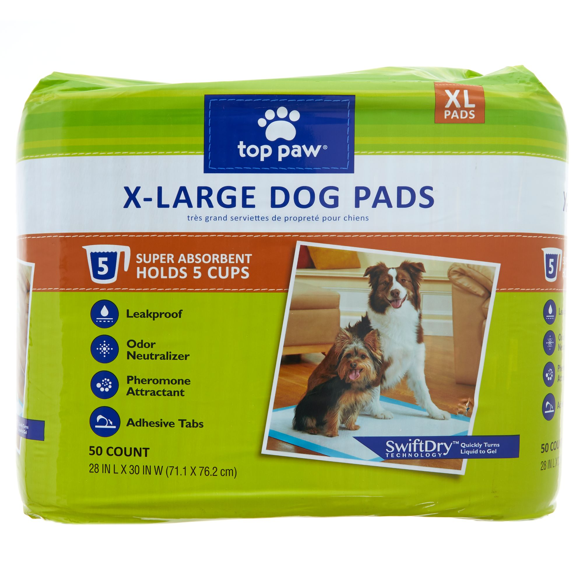 Top Paw X-Large Dog Pads size: 50 Count 5270592