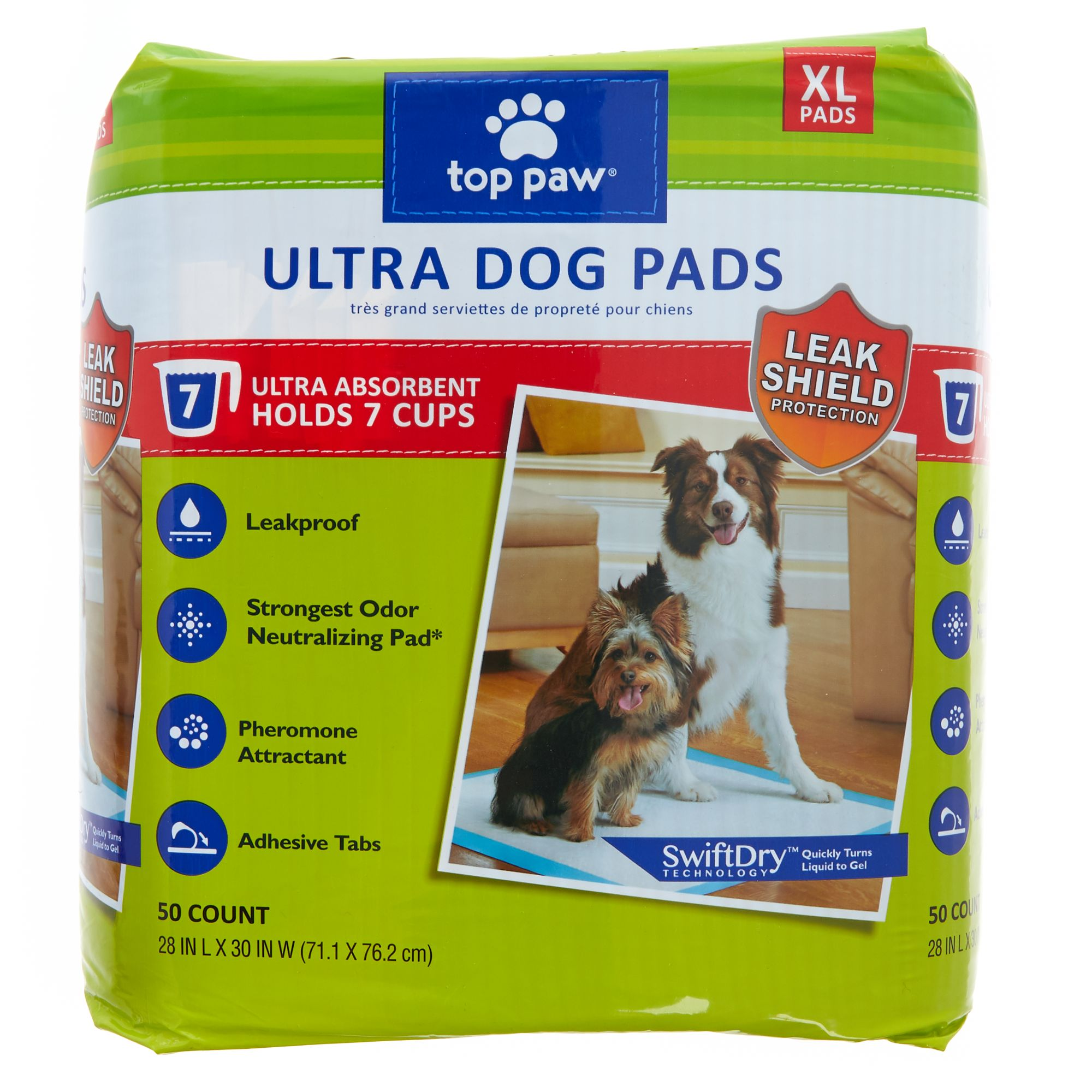 Top Paw X-Large Ultra Dog Pads size: 50 Count 5270595