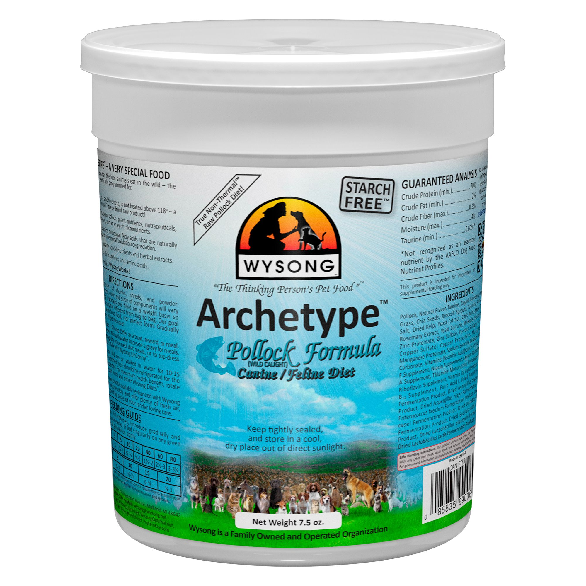 Wysong Archetype Freeze Dried Raw Dog and Cat Food - Pollock size: 7.5 Oz 5270599