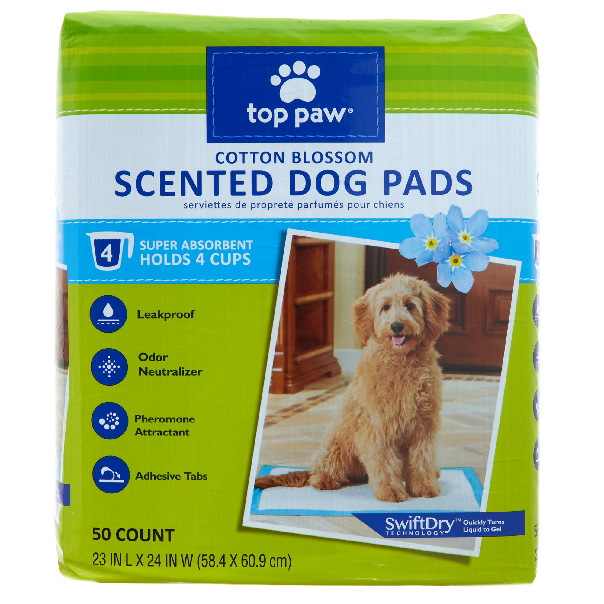 Top Paw Scented Dog Pads size: 50 Count 5270602