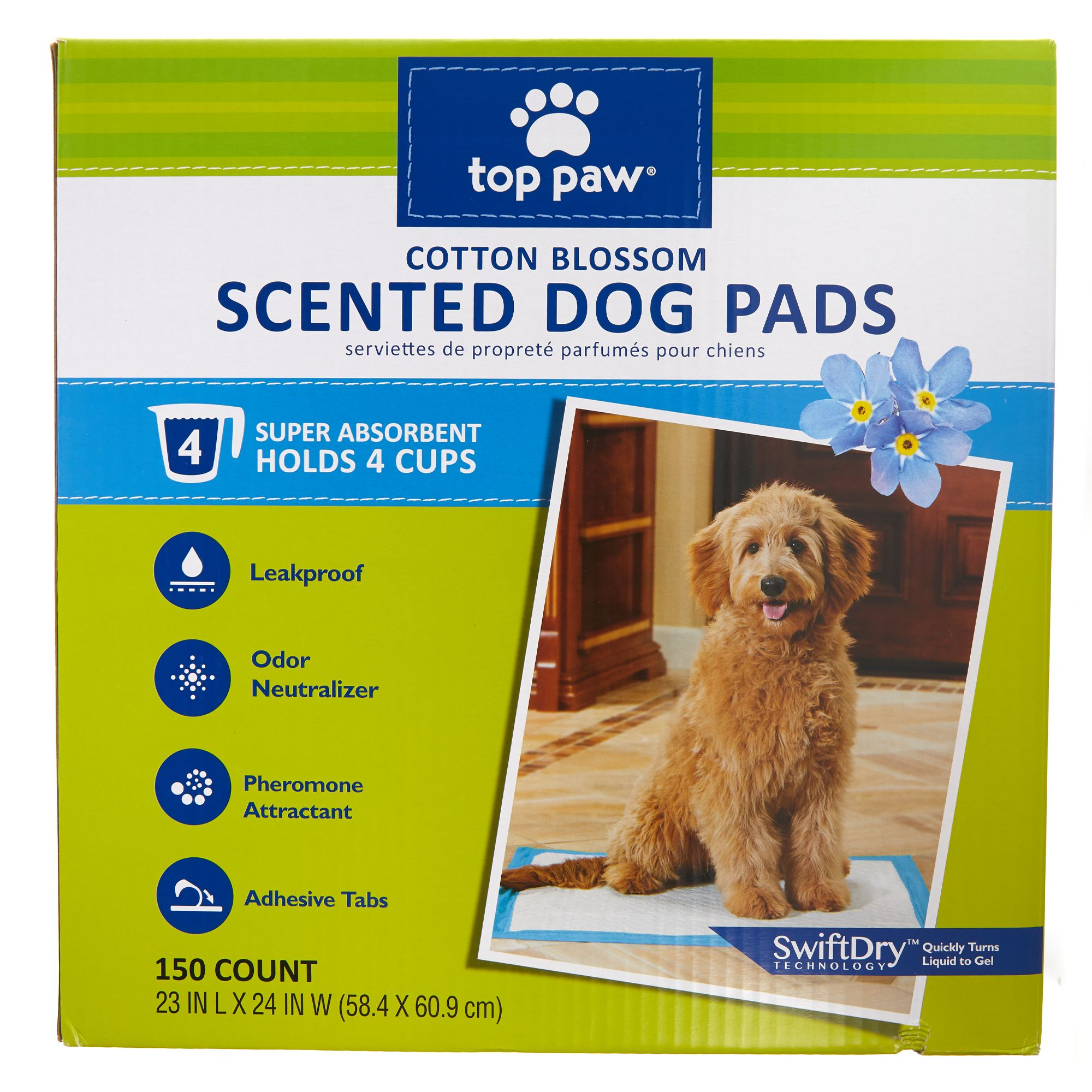 Top Paw Scented Dog Pads size: 150 Count 5270604