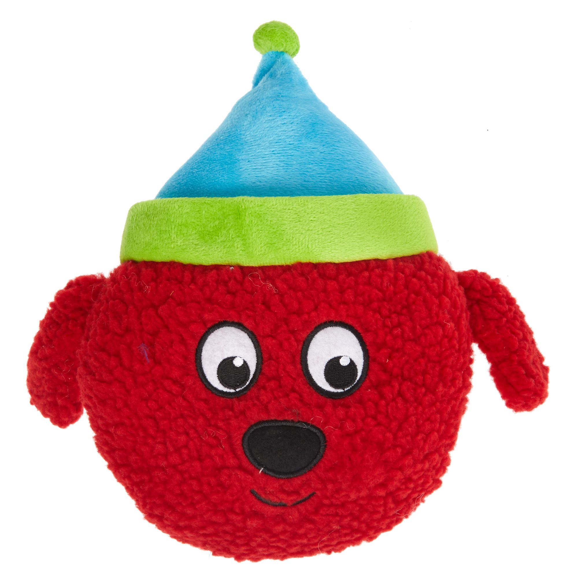 Pet Holiday, Dog Head Dog Toy - Plush, Squeaker 5270800