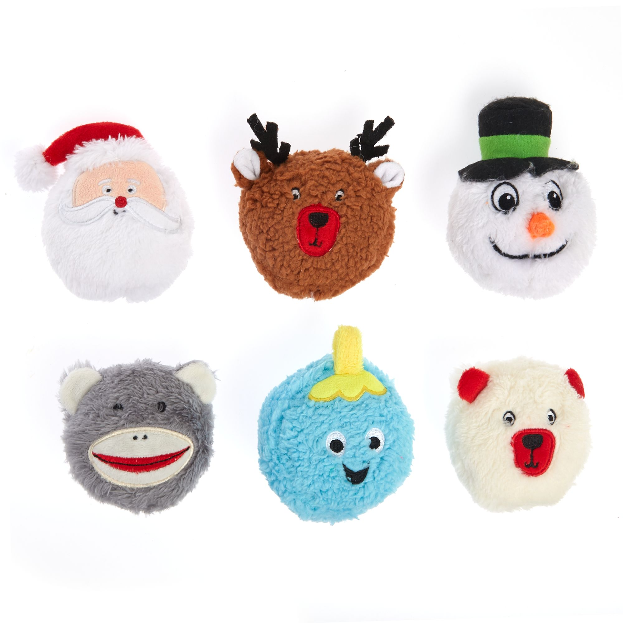 Pet Holiday, Holidays Heads Dog Toys - 6 Pack 5271035