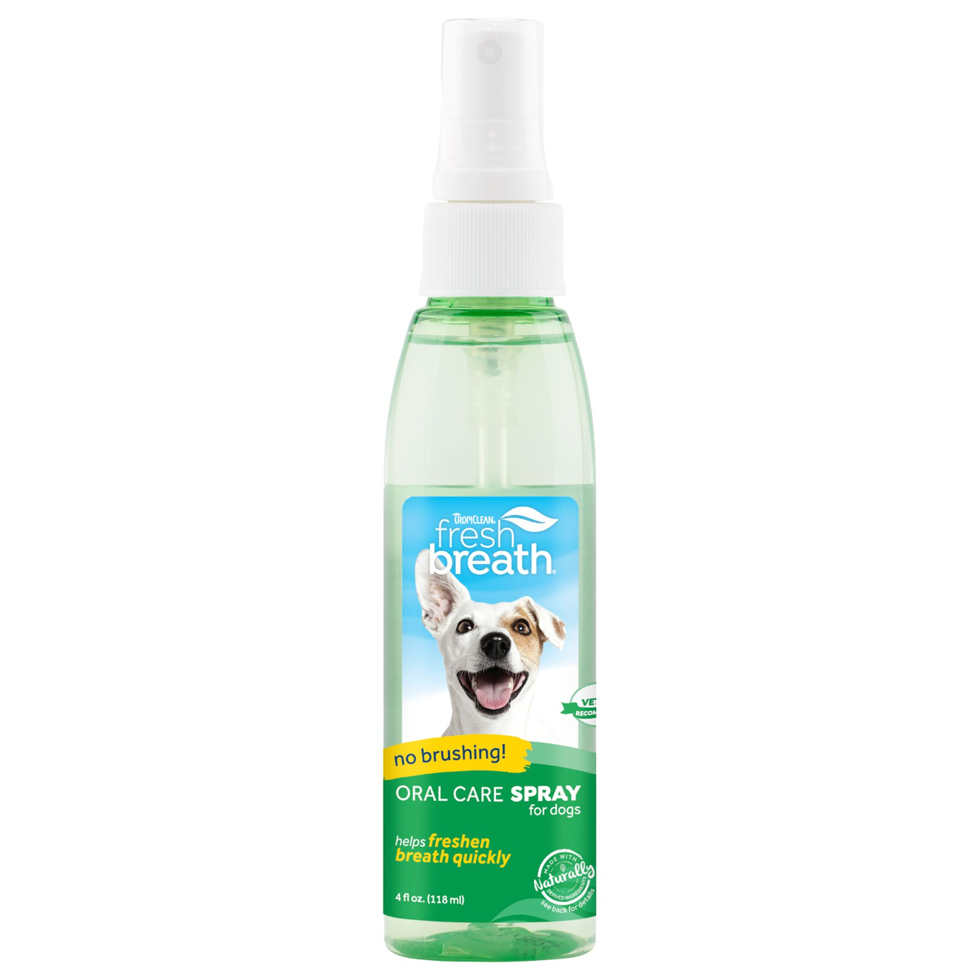 Tropiclean Fresh Breath Dog Oral Care Spray Size 4 Fl Oz
