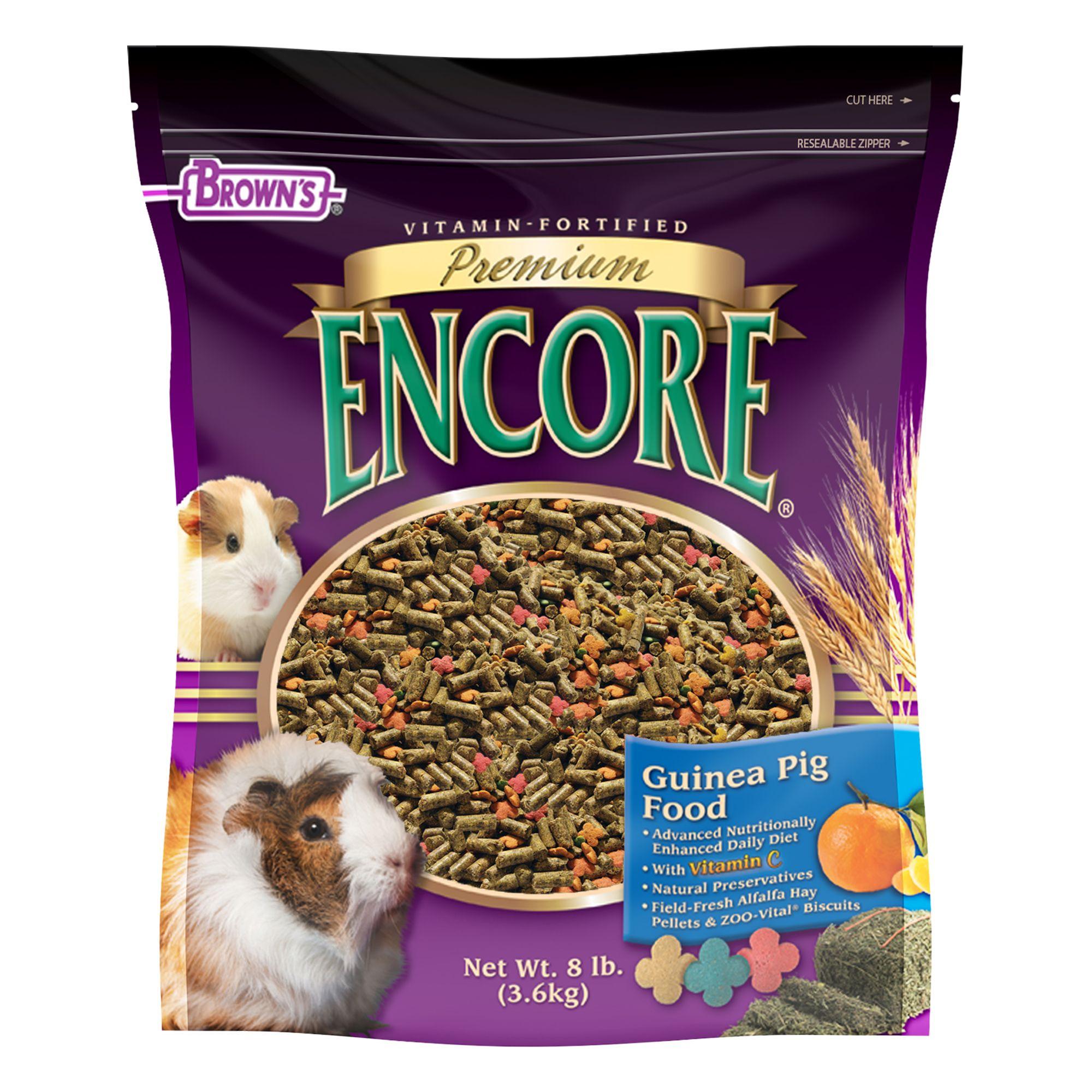 Browns Encore Premium Guinea Pig Food Size 8 Lb Fm Browns