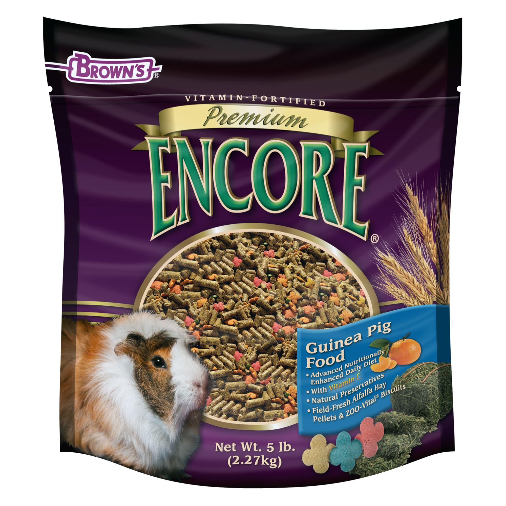 Browns Encore Premium Guinea Pig Food Size 5 Lb Fm Browns