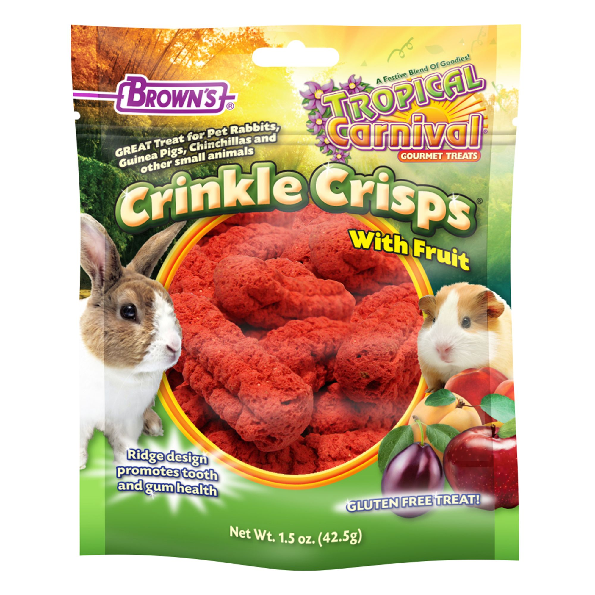 Browns Tropical Carnival Crinkle Crisps Treats Size 1.5 Oz Fm Browns