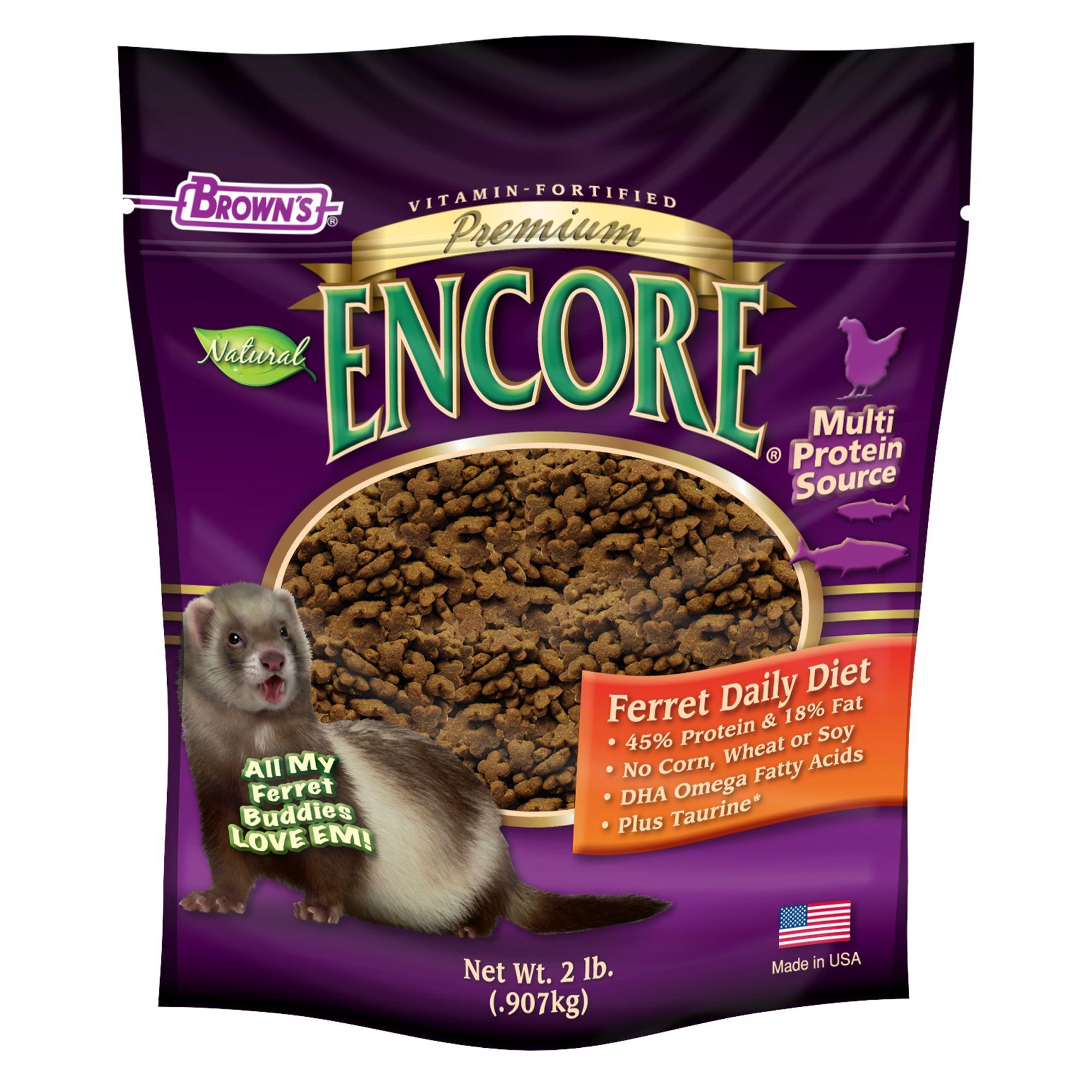 Browns Encore Premium Ferret Food Size 2 Lb Fm Browns
