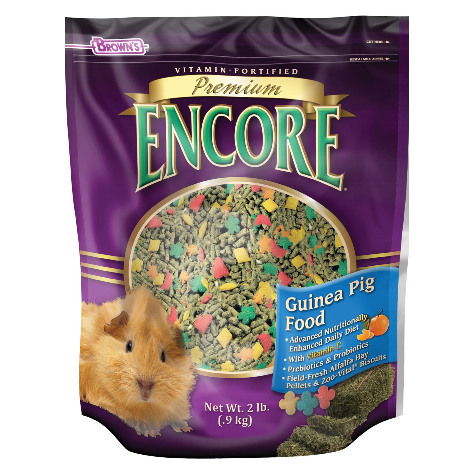 Browns Encore Premium Guinea Pig Food Size 2 Lb Fm Browns