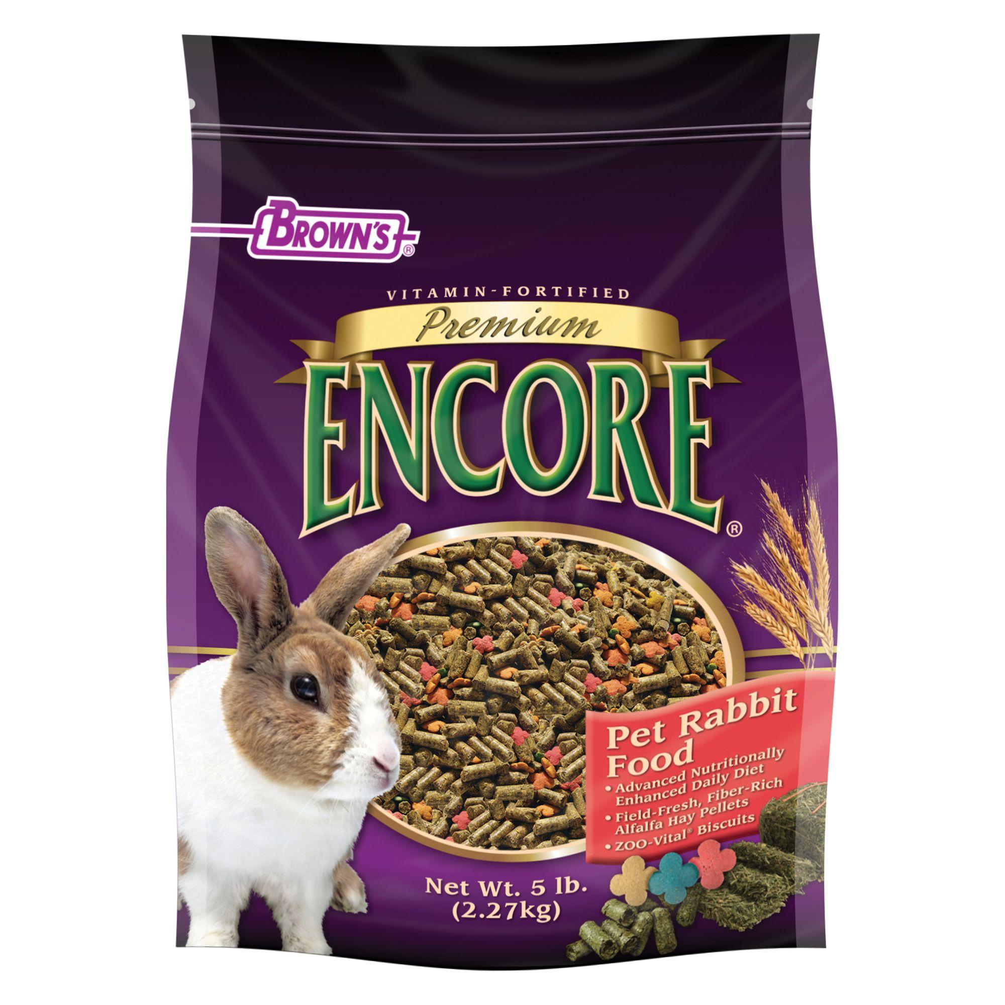 Browns Encore Premium Rabbit Food Size 5 Lb Fm Browns