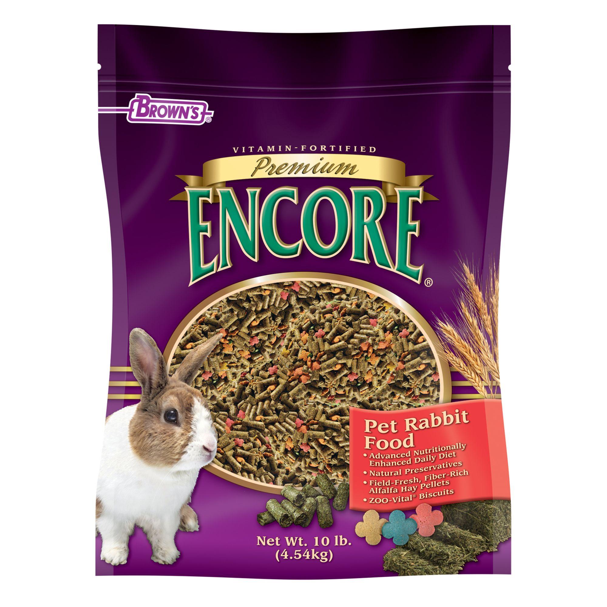 Browns Encore Premium Rabbit Food Size 10 Lb Fm Browns
