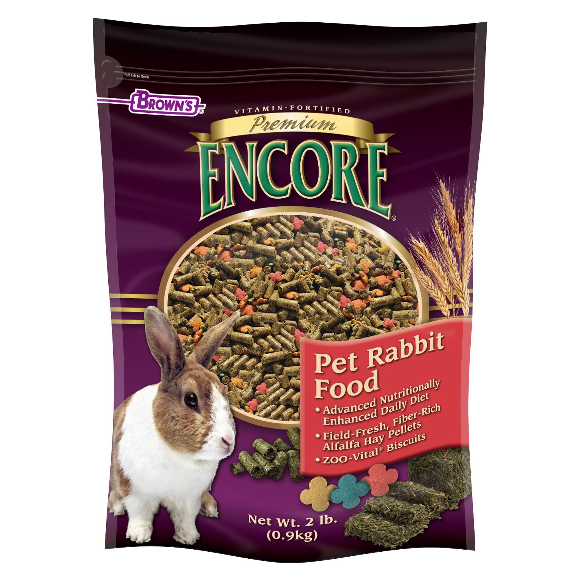 Browns Encore Premium Rabbit Food Size 2 Lb Fm Browns