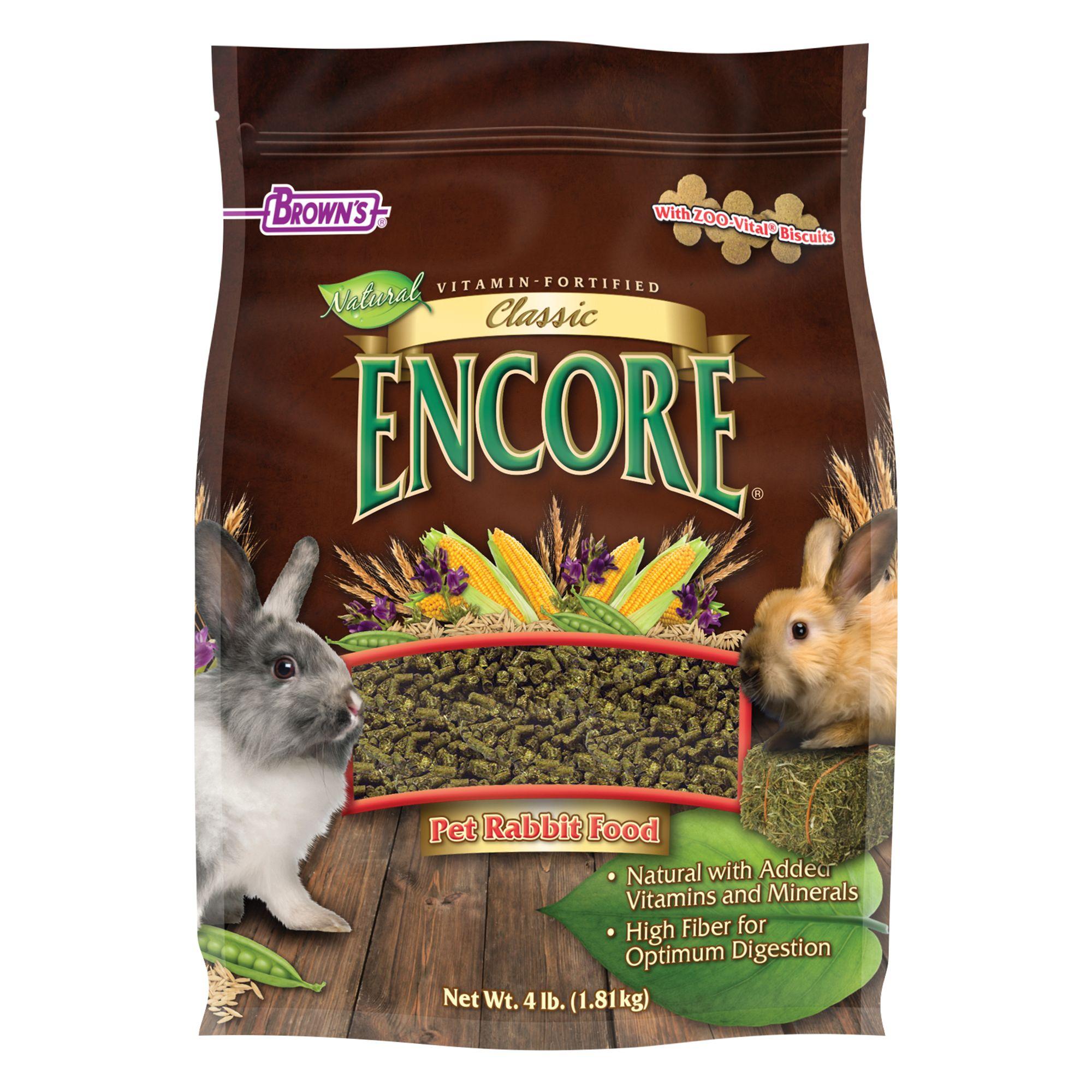 Browns Encore Classic Natural Rabbit Food Size 4 Lb Fm Browns