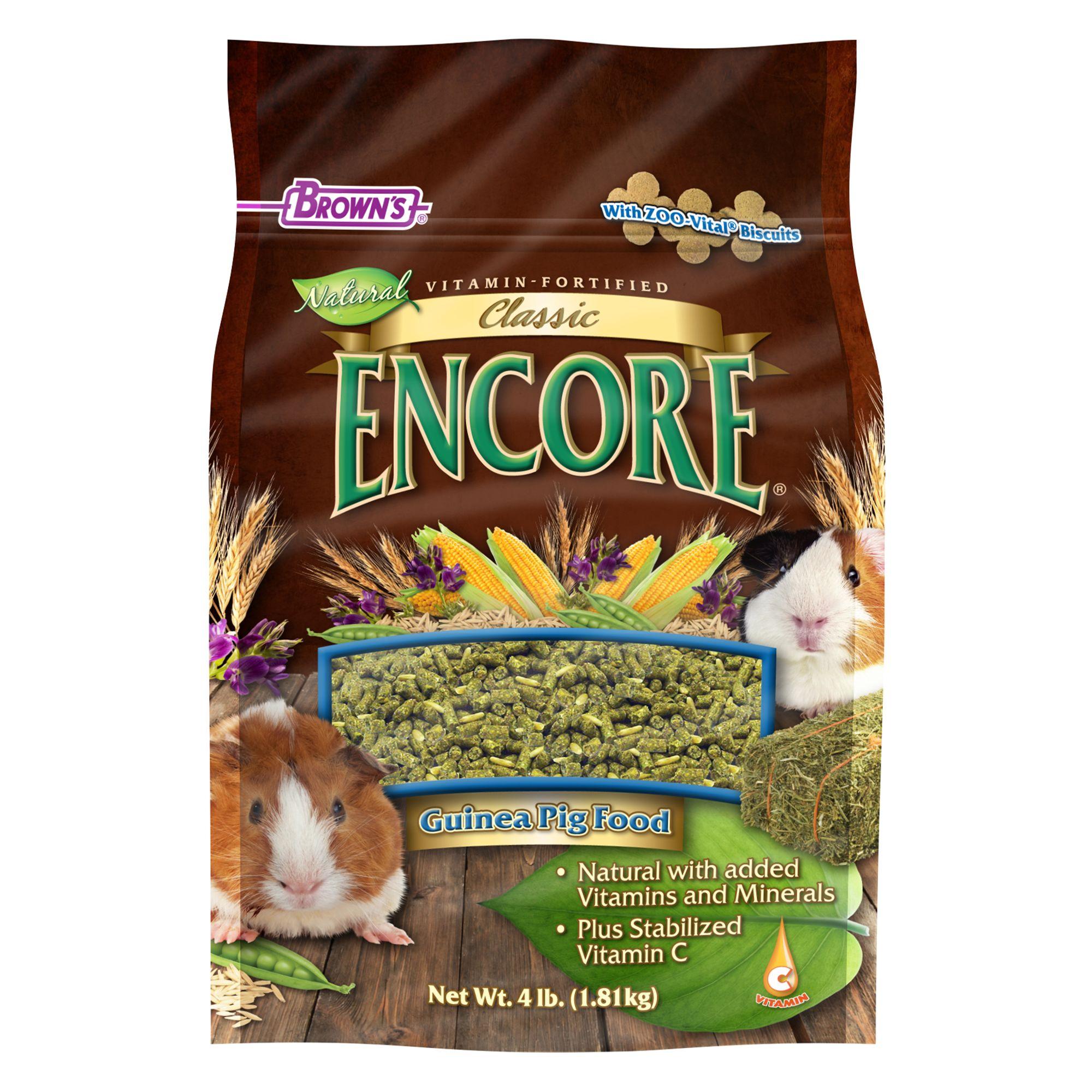 Browns Encore Classic Natural Guinea Pig Food Size 4 Lb Fm Browns