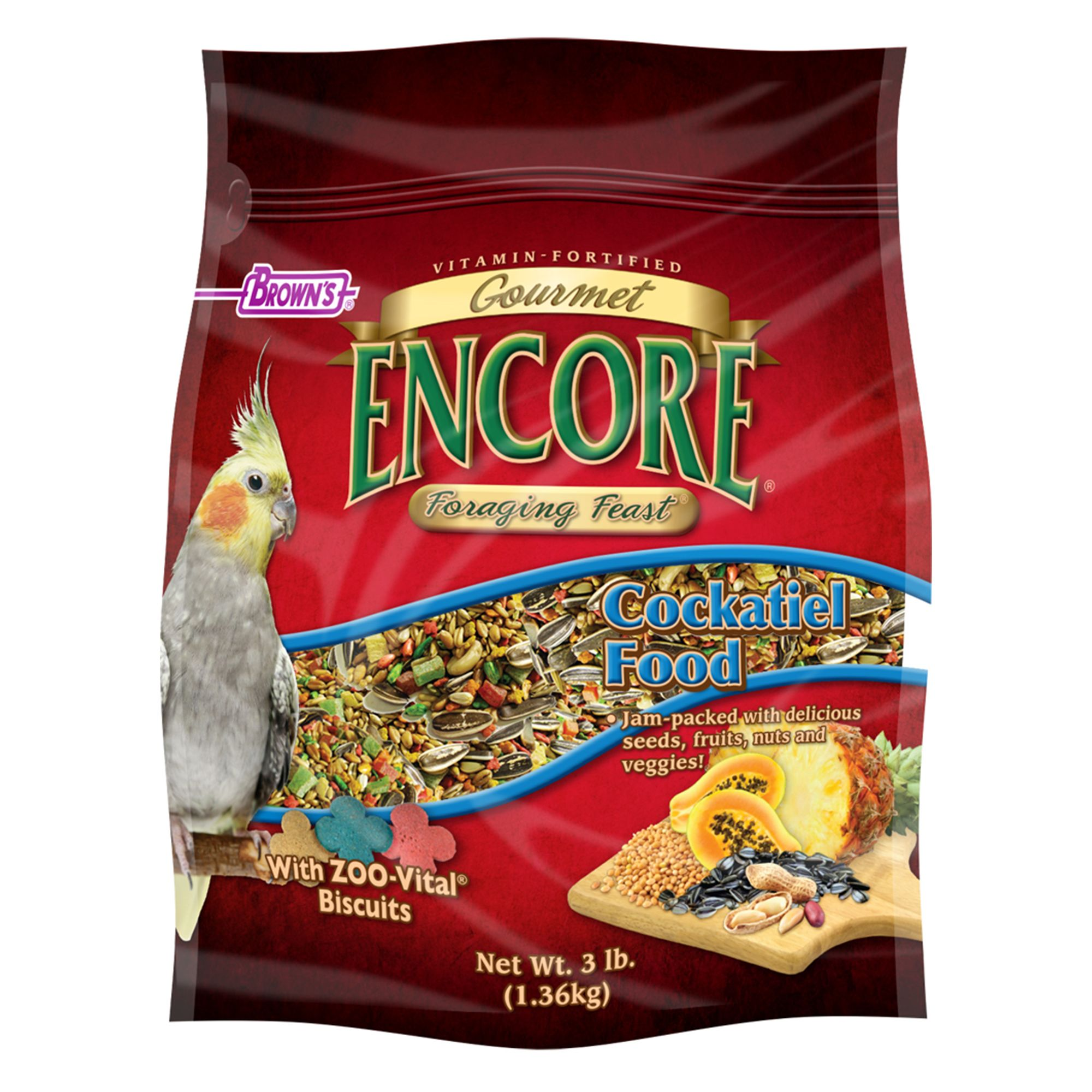 Brown's Encore Foraging Feast Cockatiels Food size: 3 Lb, FM Browns 5271524