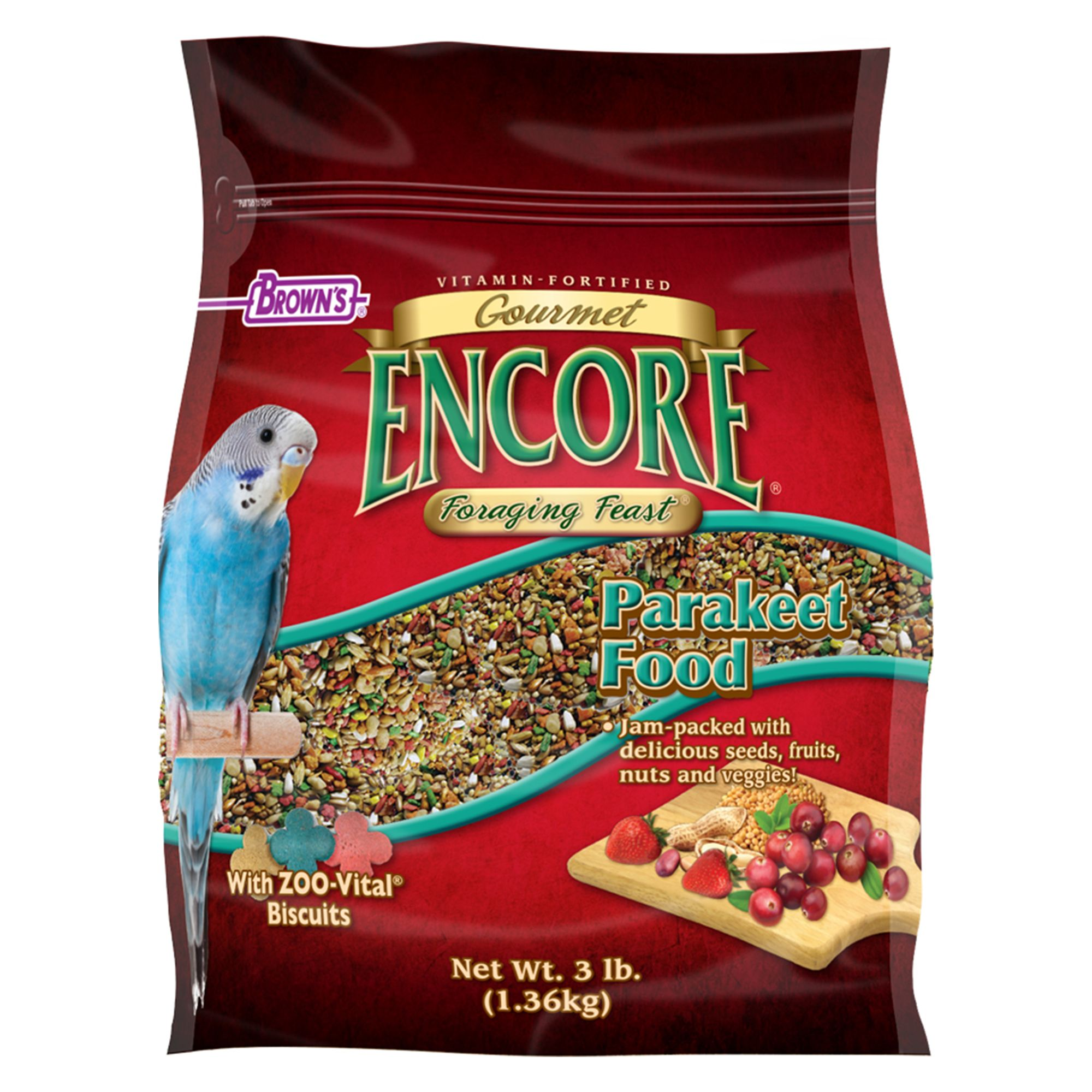 Brown's Encore Foraging Feast Parakeets Food size: 3 Lb, FM Browns 5271525