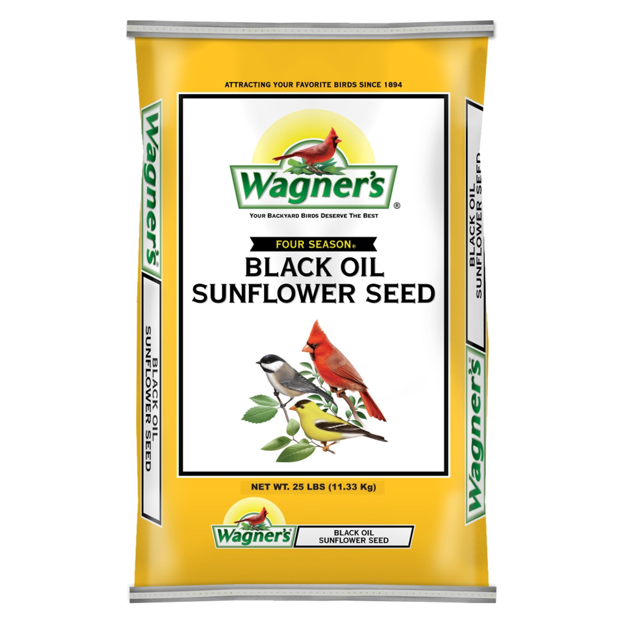 Wagners Four Season Sunflower Seed size: 25 Lb, Grain 5271538